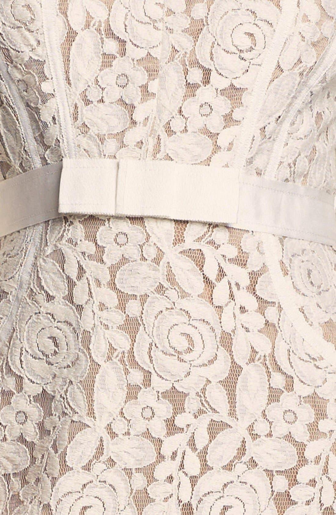 Alternate Image 3  - Taylor Dresses Ribbon Trim Lace Sheath Dress