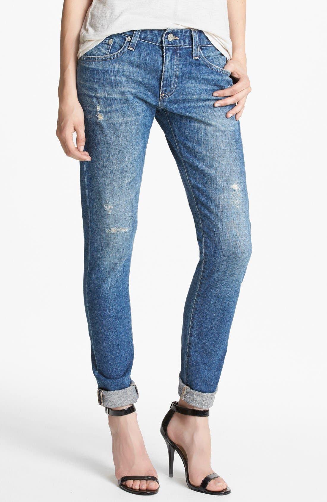 Alternate Image 1  - AG 'Nikki' Relaxed Skinny Jeans (17-Years Salvation)