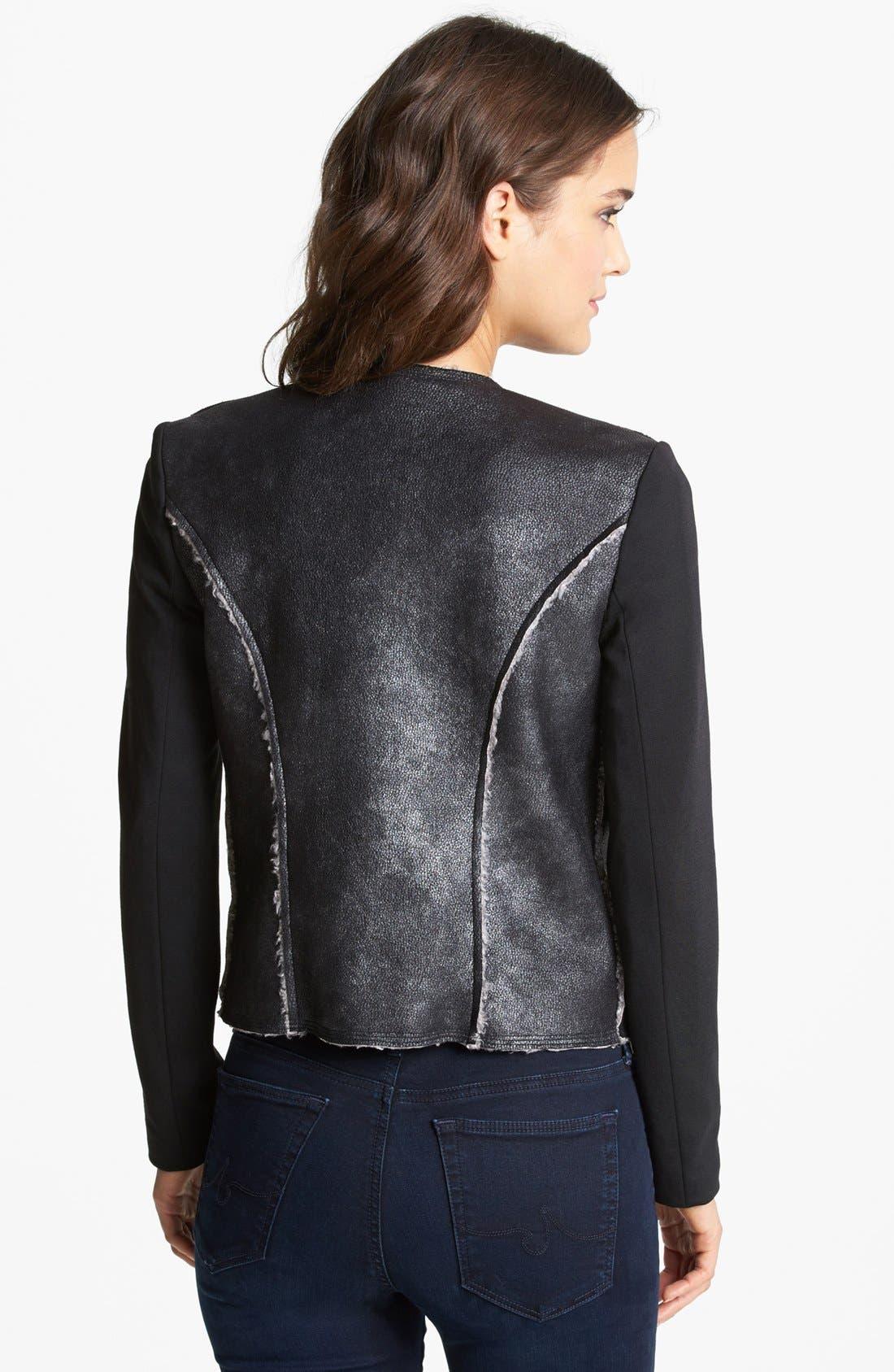 Alternate Image 2  - Ella Moss Faux Shearling Moto Jacket