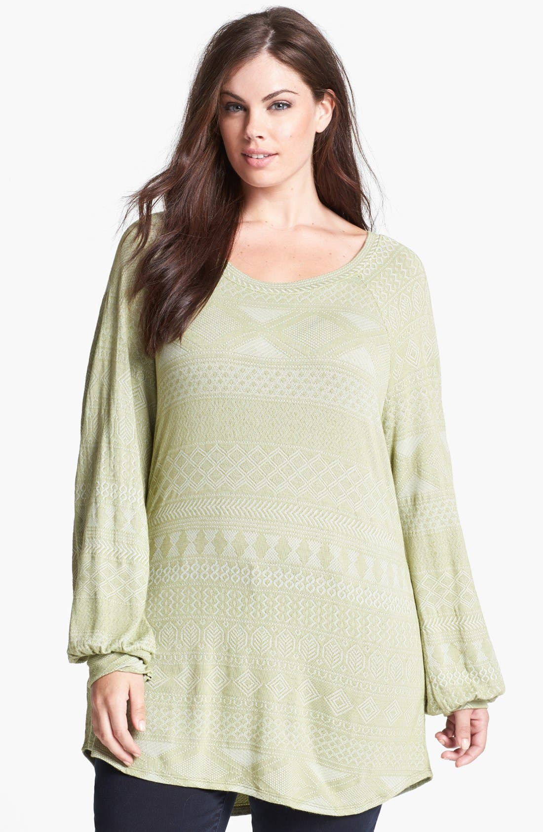 Alternate Image 1 Selected - LAmade Raglan Sleeve Top (Plus Size)