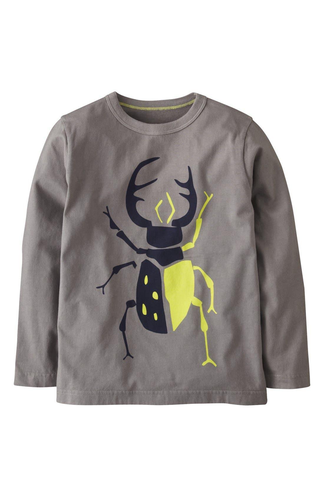 Alternate Image 1 Selected - Mini Boden 'Big Bugs' Long Sleeve T-Shirt (Toddler Boys)