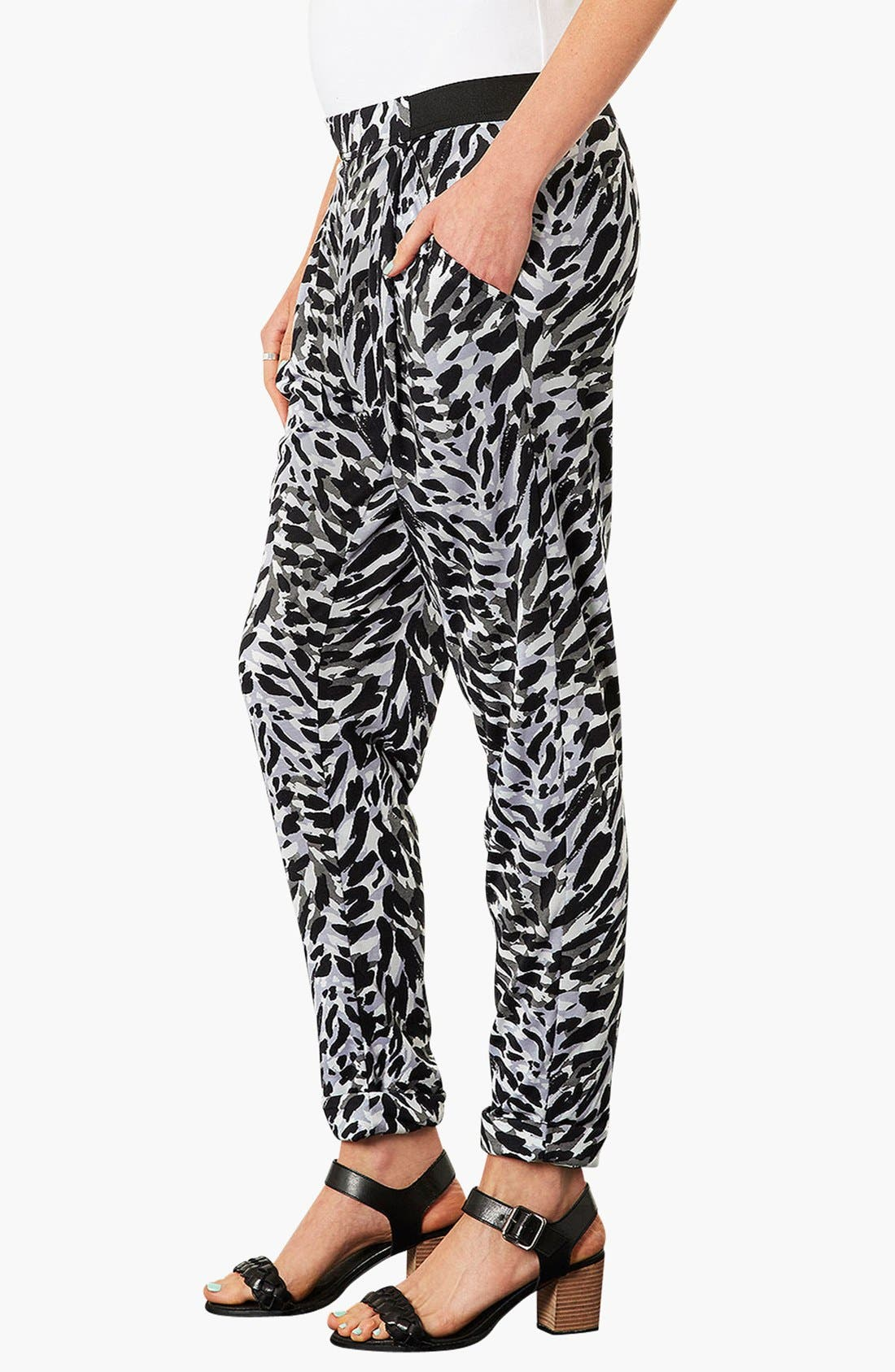 Alternate Image 2  - Topshop 'Contrast Cat' Tapered Maternity Trousers