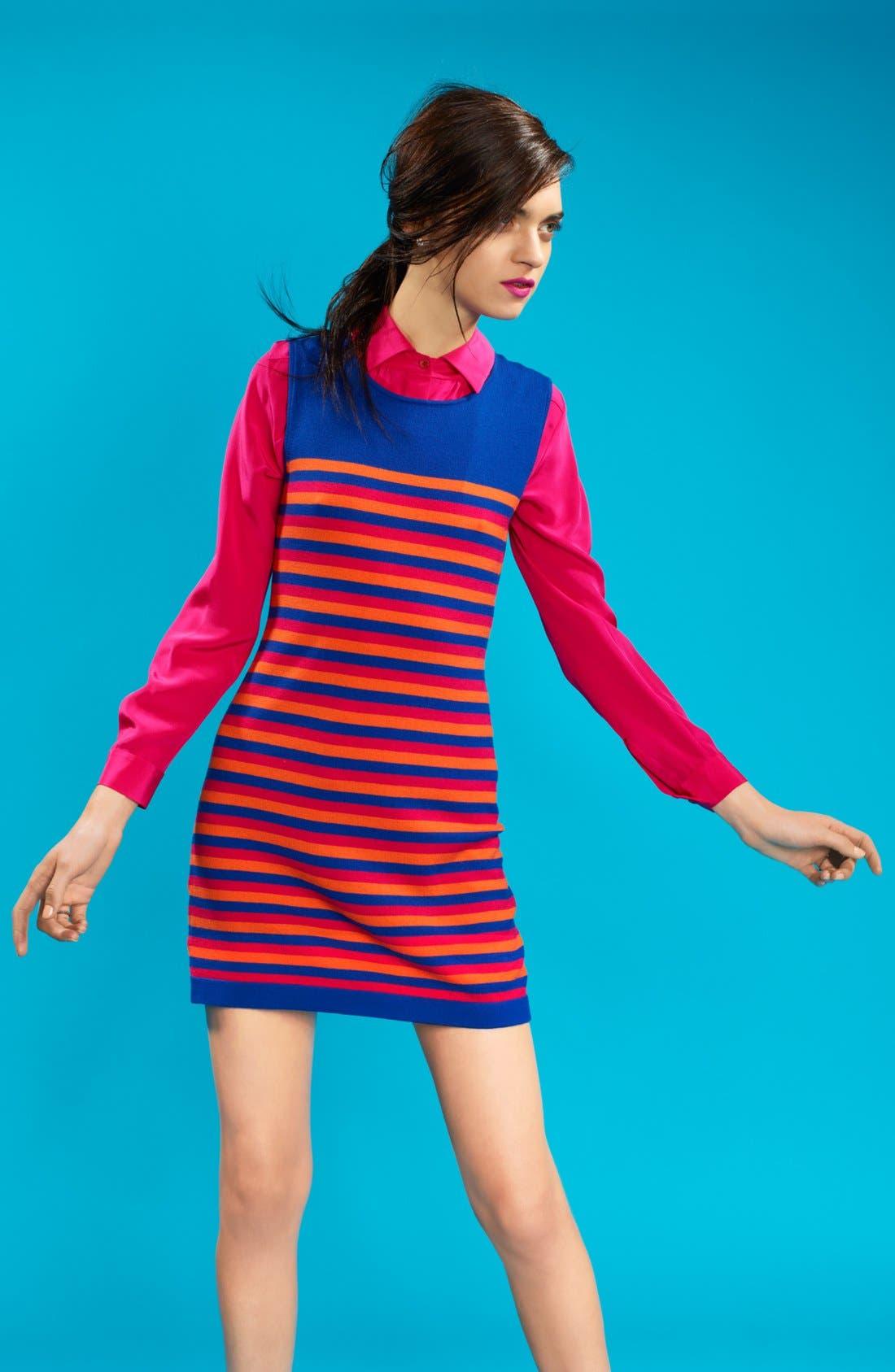 Alternate Image 4  - Miss Wu 'Kaki' Stripe Merino Wool Dress (Nordstrom Exclusive)
