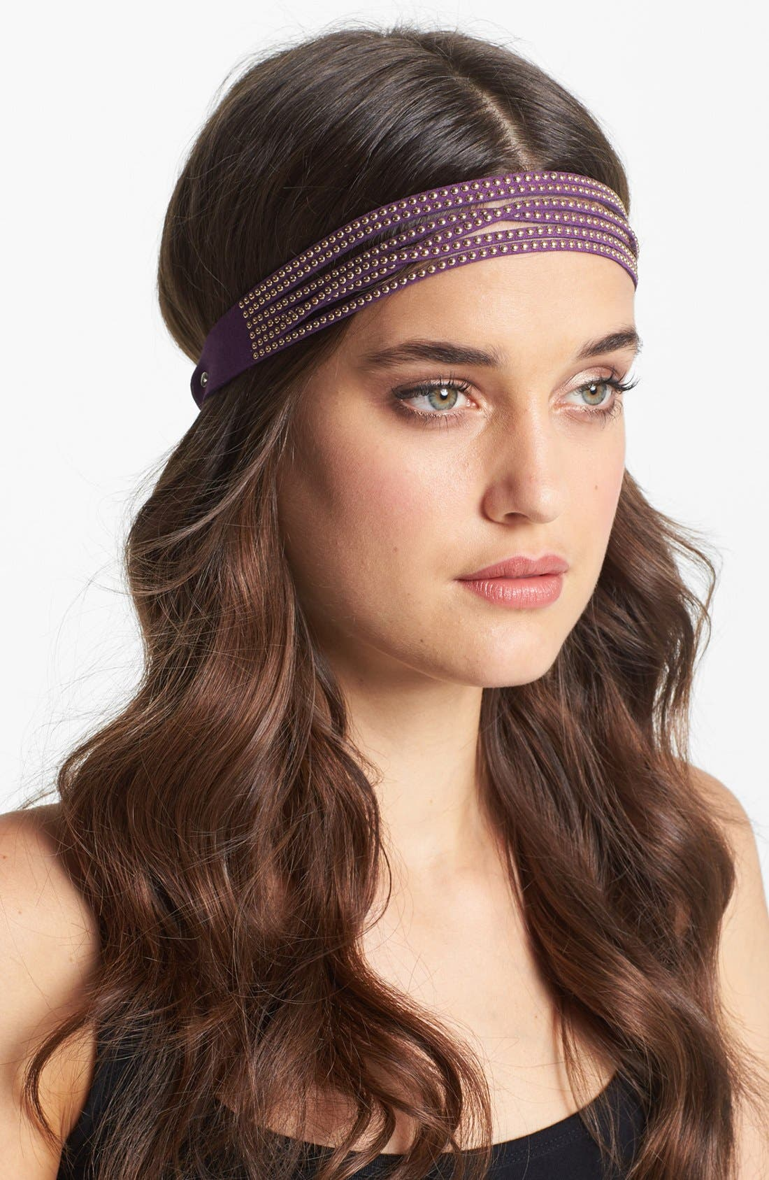 Alternate Image 1 Selected - Tasha 'Studly' Suede Head Wrap