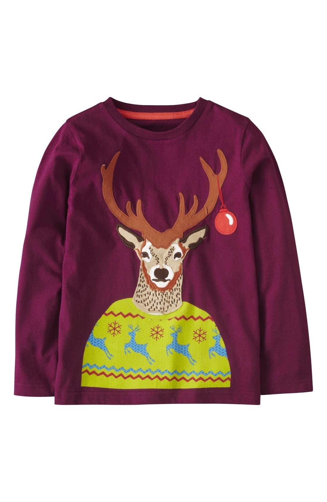 Alternate Image 1 Selected - Mini Boden 'Winter Fun' Long Sleeve T-Shirt (Toddler Boys, Little Boys & Big Boys)