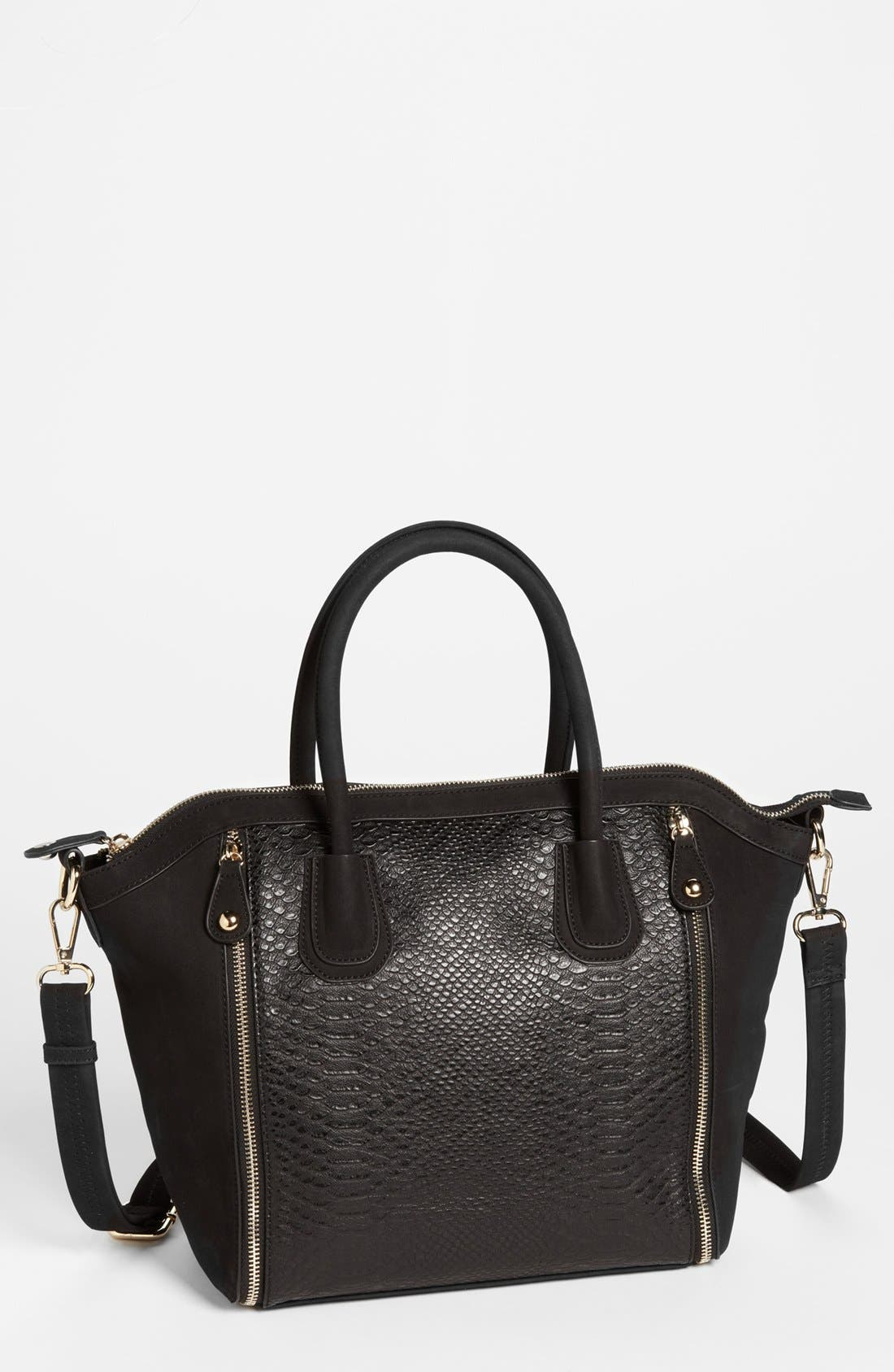 Alternate Image 1 Selected - Emperia Faux Leather Tote Bag (Juniors)