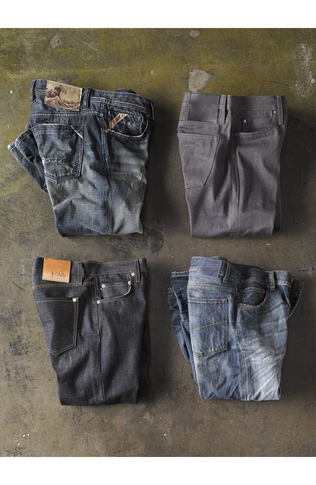 Alternate Image 7  - Gilded Age 'Baxten' Slim Fit Jeans (Blue Rust)