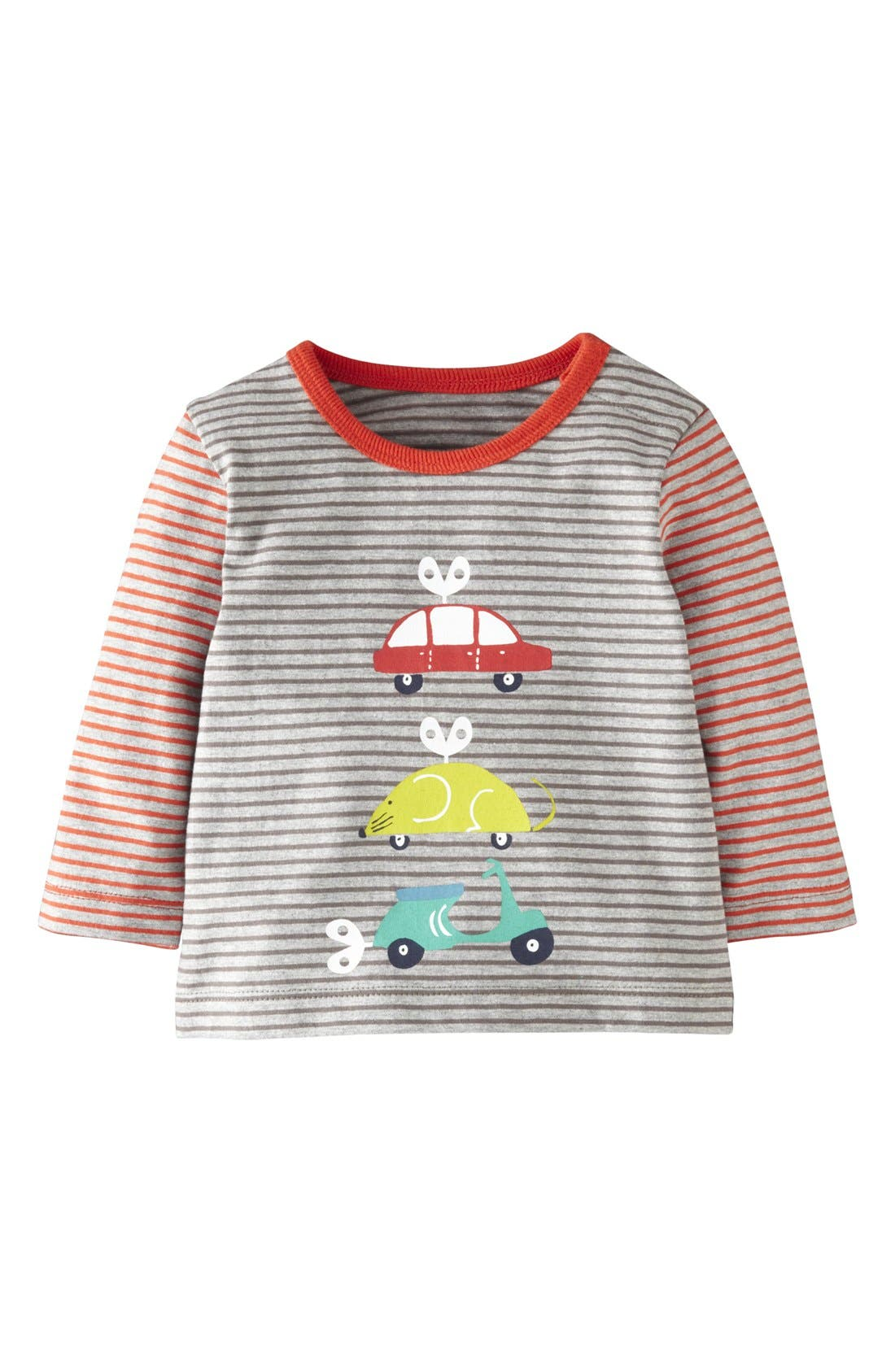 Alternate Image 1 Selected - Mini Boden Stripe Long Sleeve T-Shirt (Baby Boys)
