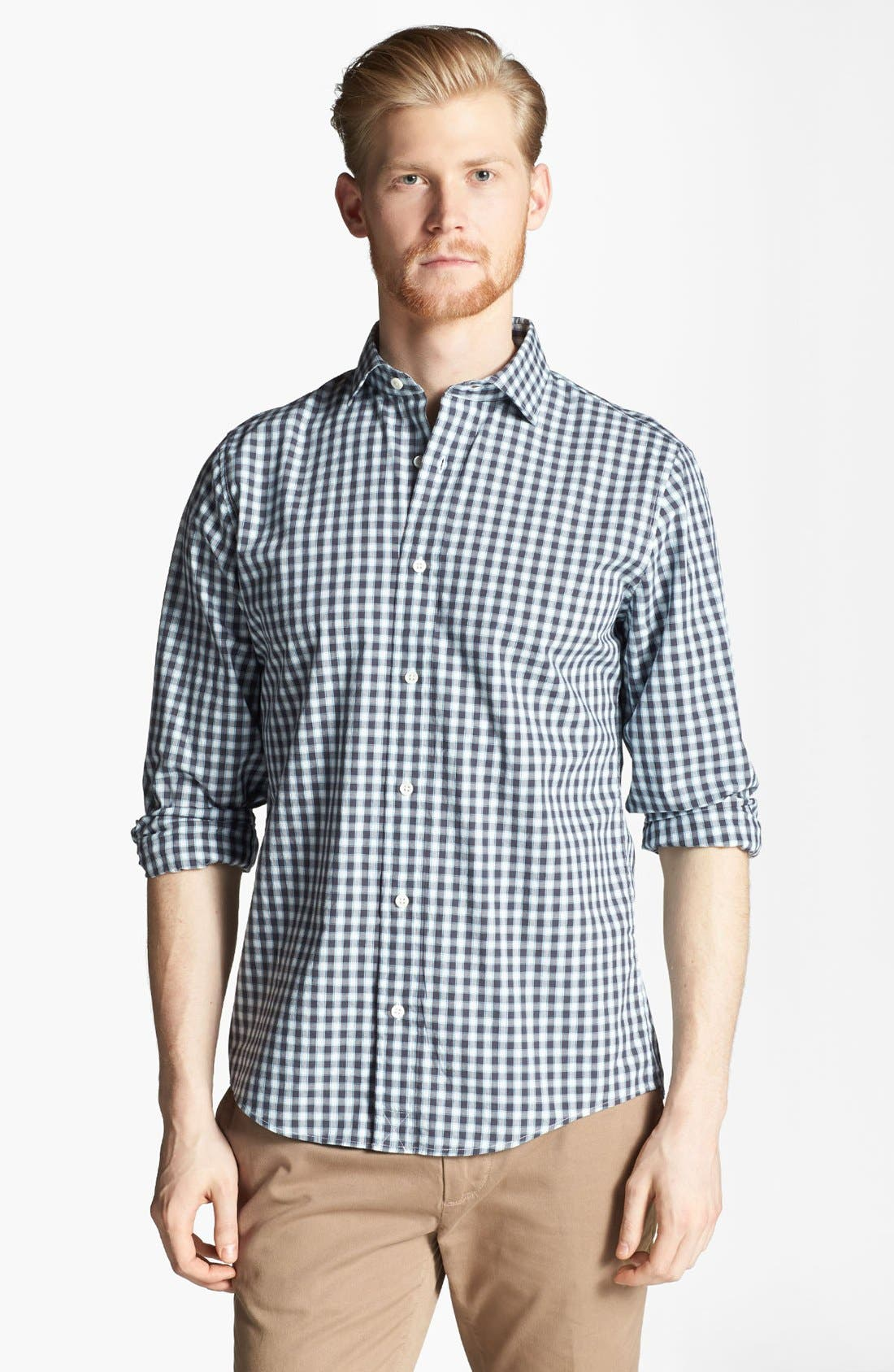 Alternate Image 1 Selected - Jack Spade 'Cameron' Gingham Check Woven Shirt
