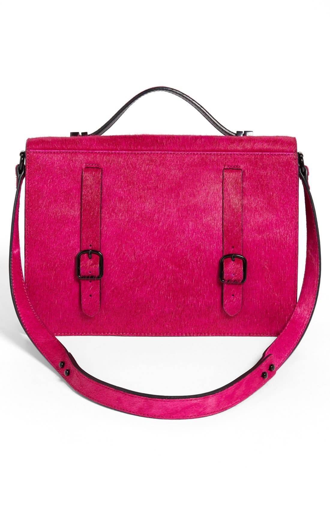 Alternate Image 3  - Loeffler Randall 'Rider' Calf Hair & Leather Satchel, Medium