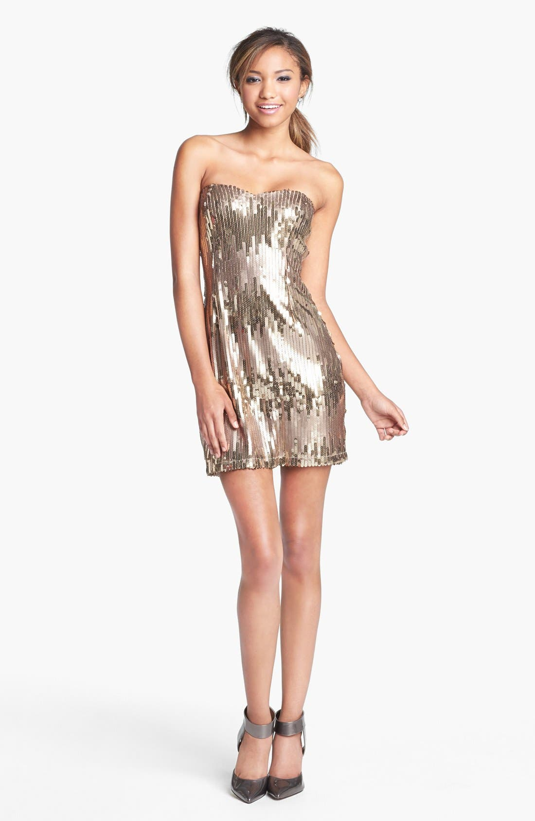 Alternate Image 1 Selected - Trixxi Sequin Body-Con Dress (Juniors)