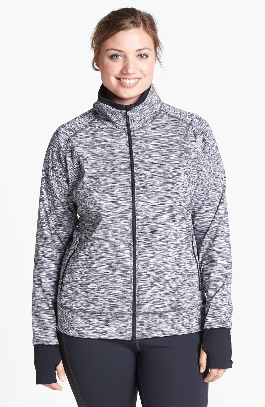 Alternate Image 1 Selected - Moving Comfort 'Foxie' Full Zip Jacket (Plus Size)