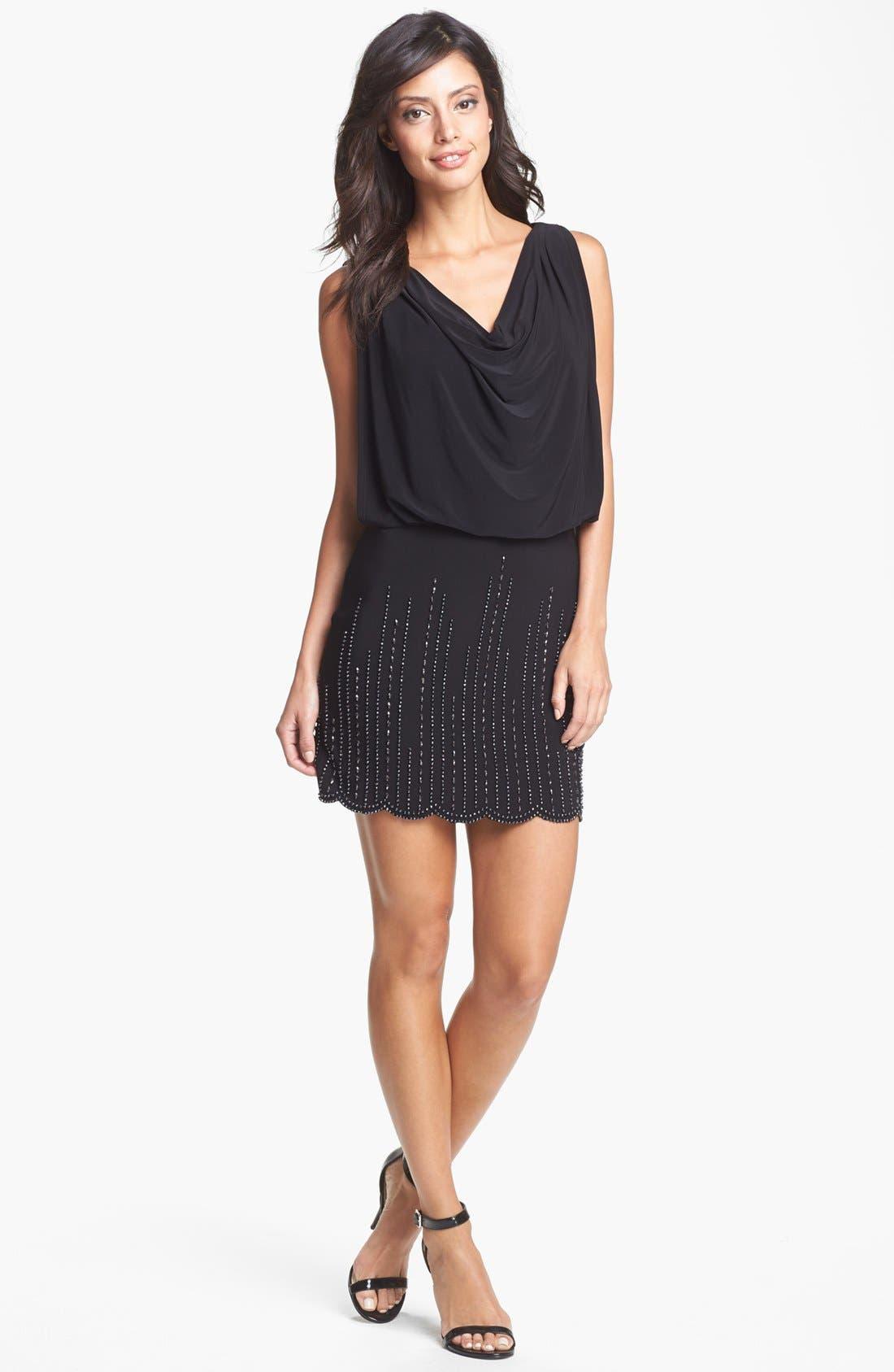 Alternate Image 2  - Xscape Embellished Blouson Dress