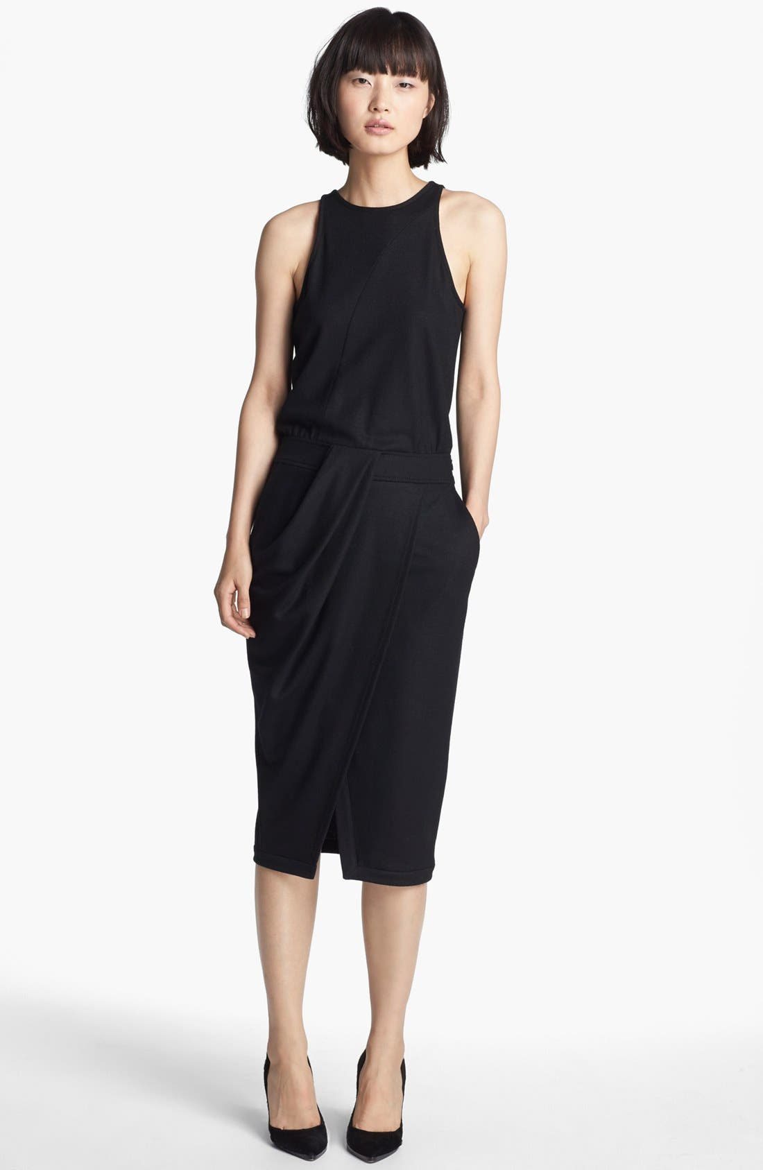 Main Image - Helmut Lang 'Sonar Wool' Drape Front Dress