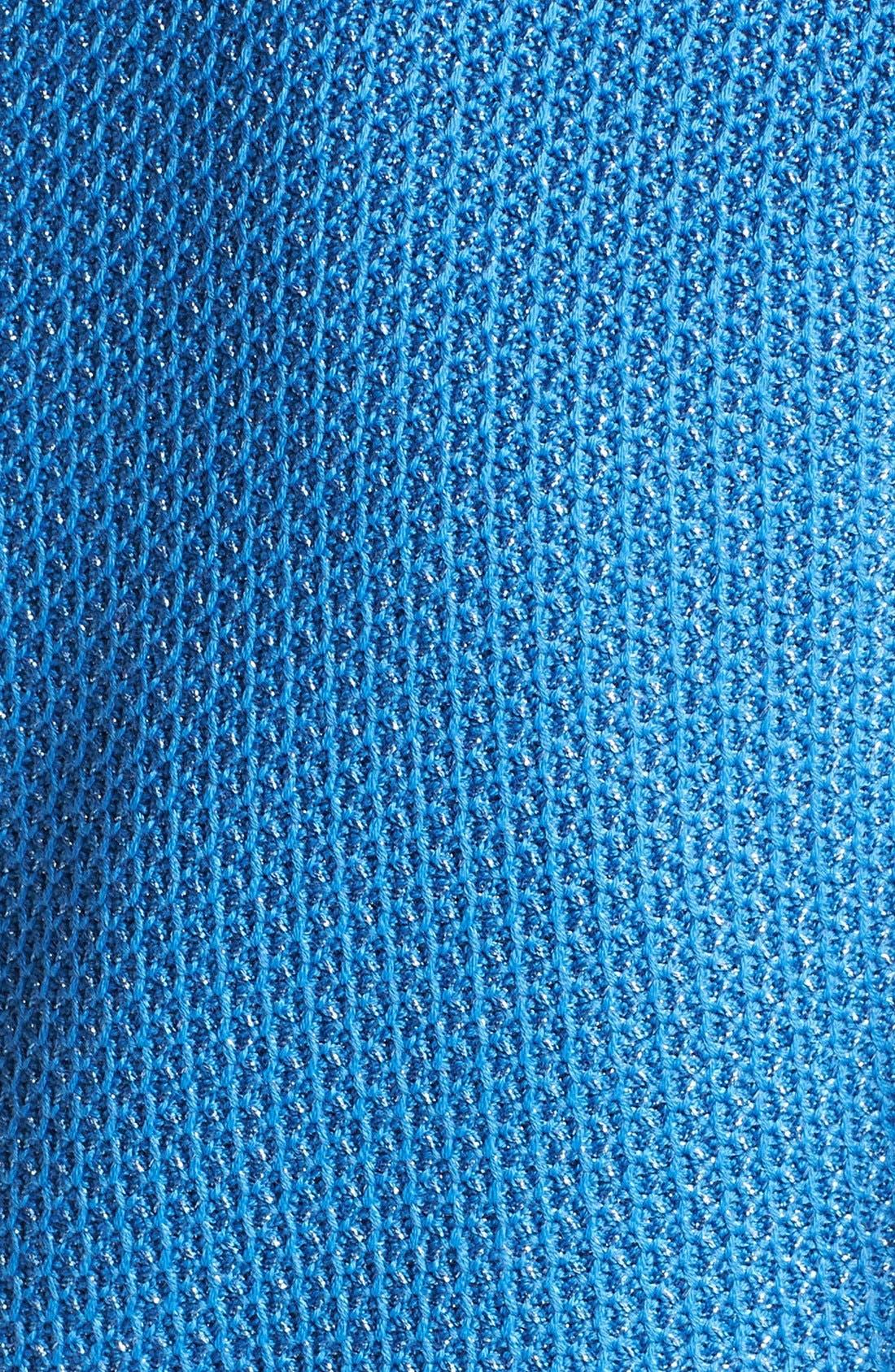 Alternate Image 3  - St. John Collection Cap Sleeve Metallic Lattice Knit Dress