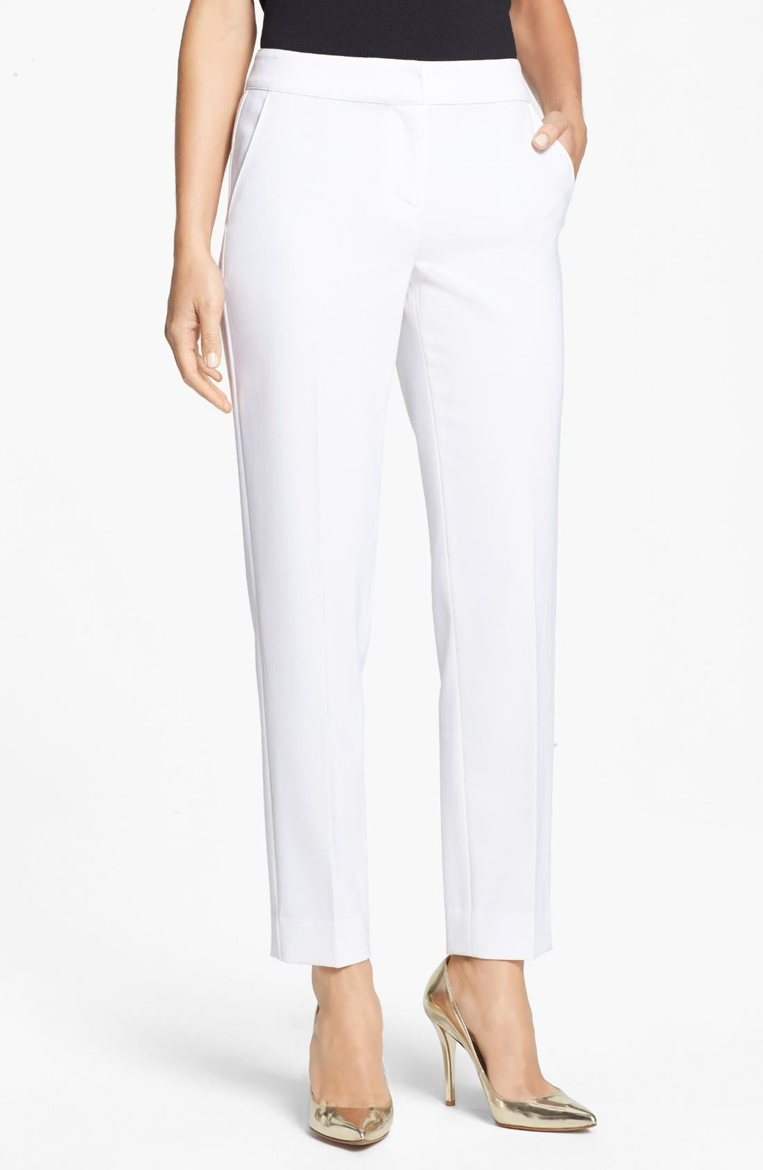 Alternate Image 1 Selected - St. John Collection 'Emma' Straight Leg Pants
