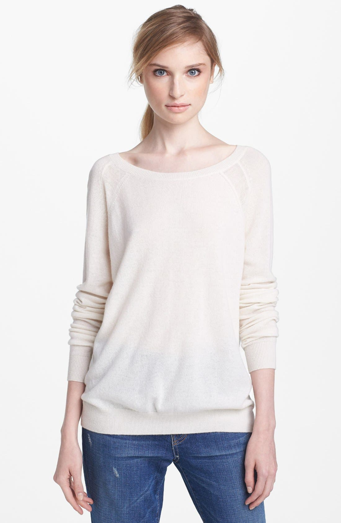 Main Image - Vince Sheer Panel Raglan Cashmere Sweater