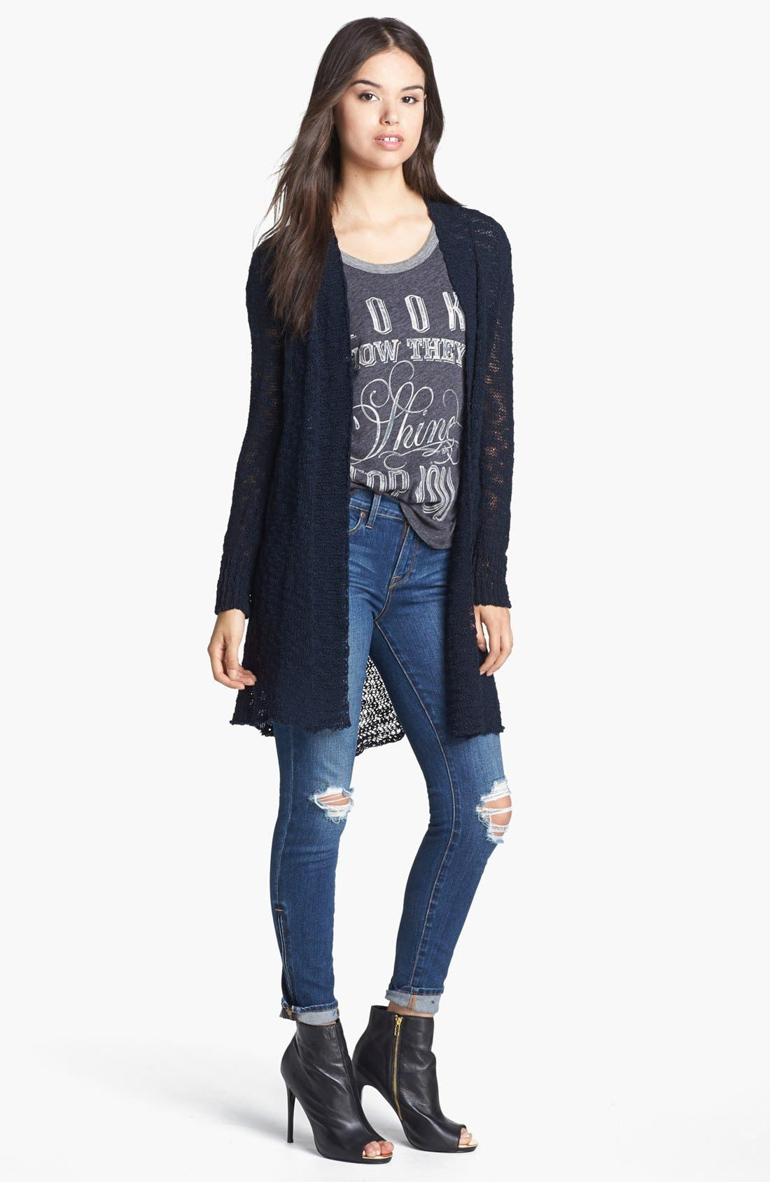 Alternate Image 5  - Lucky Brand 'Sofia' Destroyed Ankle Zip Skinny Jeans (Possum Trot)