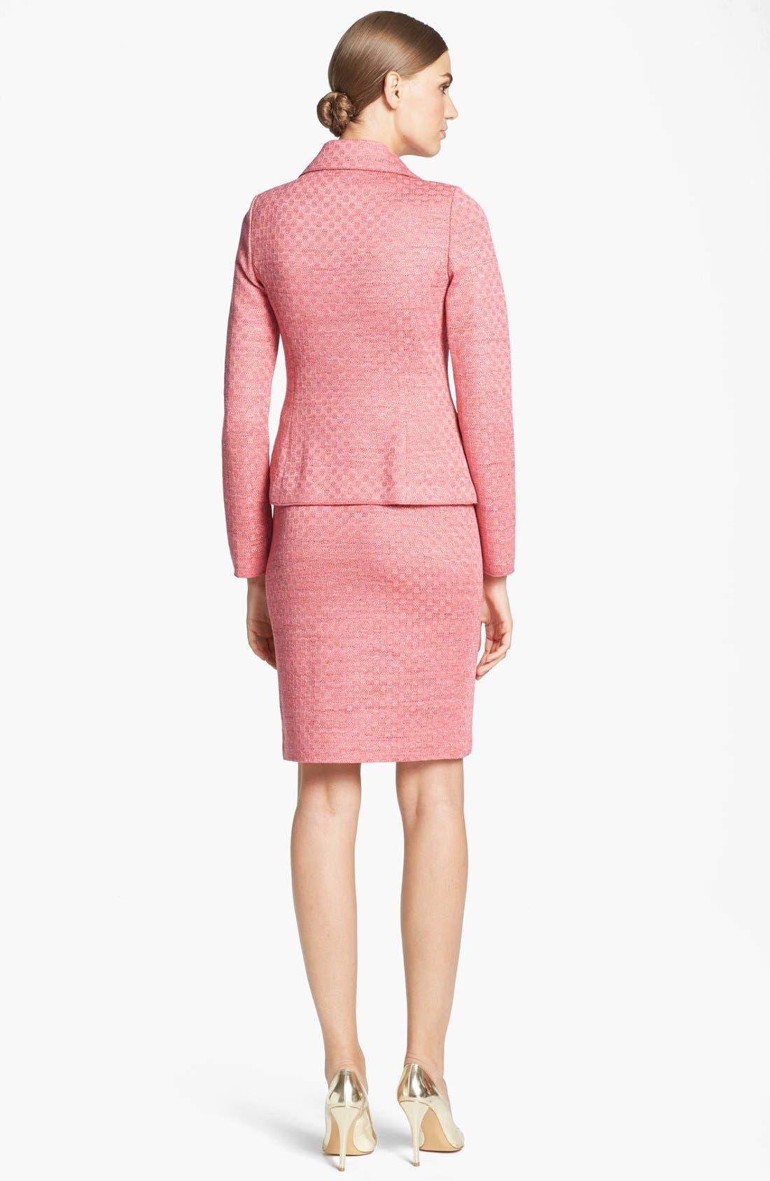 Alternate Image 3  - St. John Collection Damier Knit Pencil Skirt