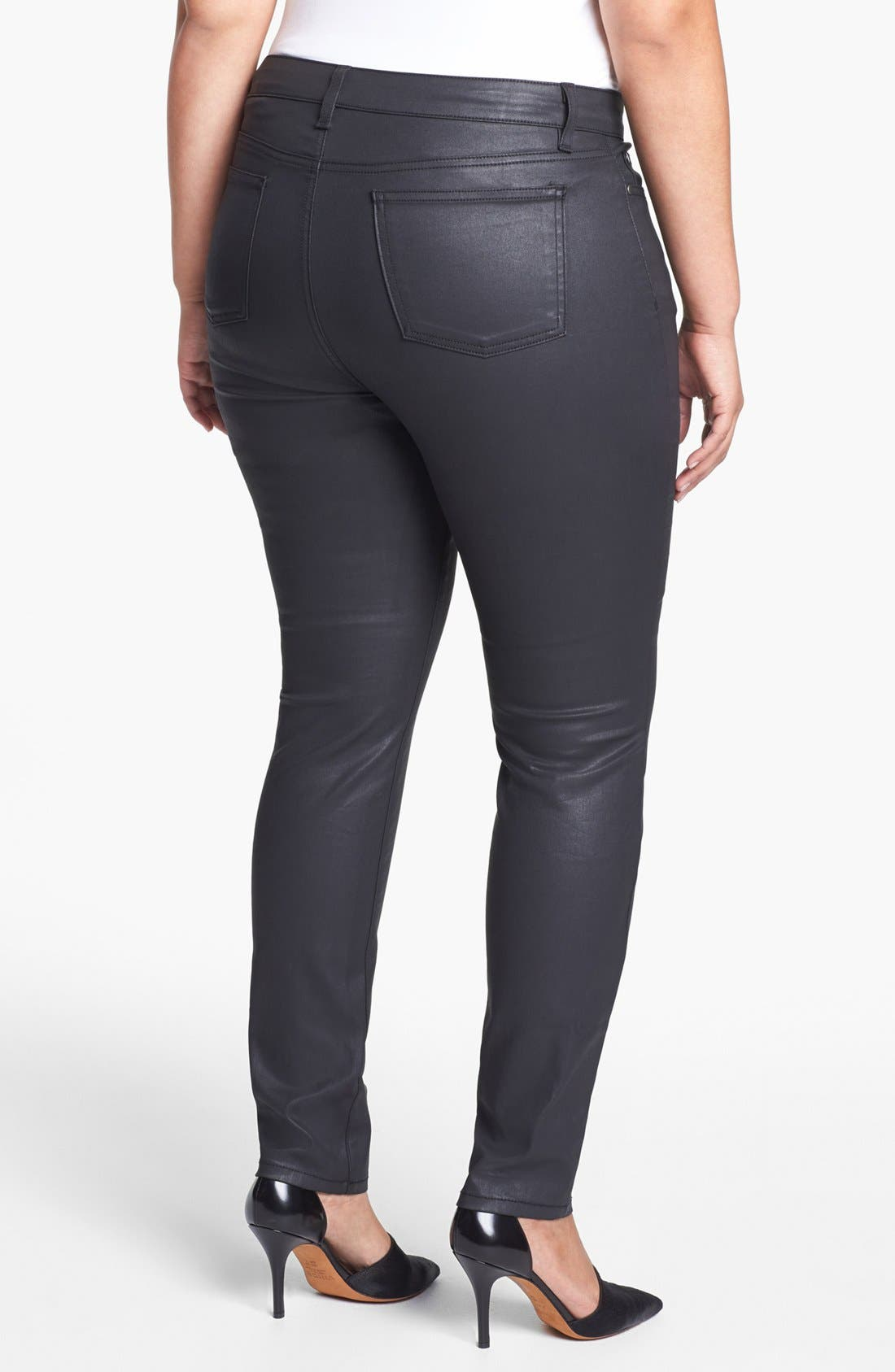 Alternate Image 2  - Eileen Fisher Coated Jeans (Plus Size)