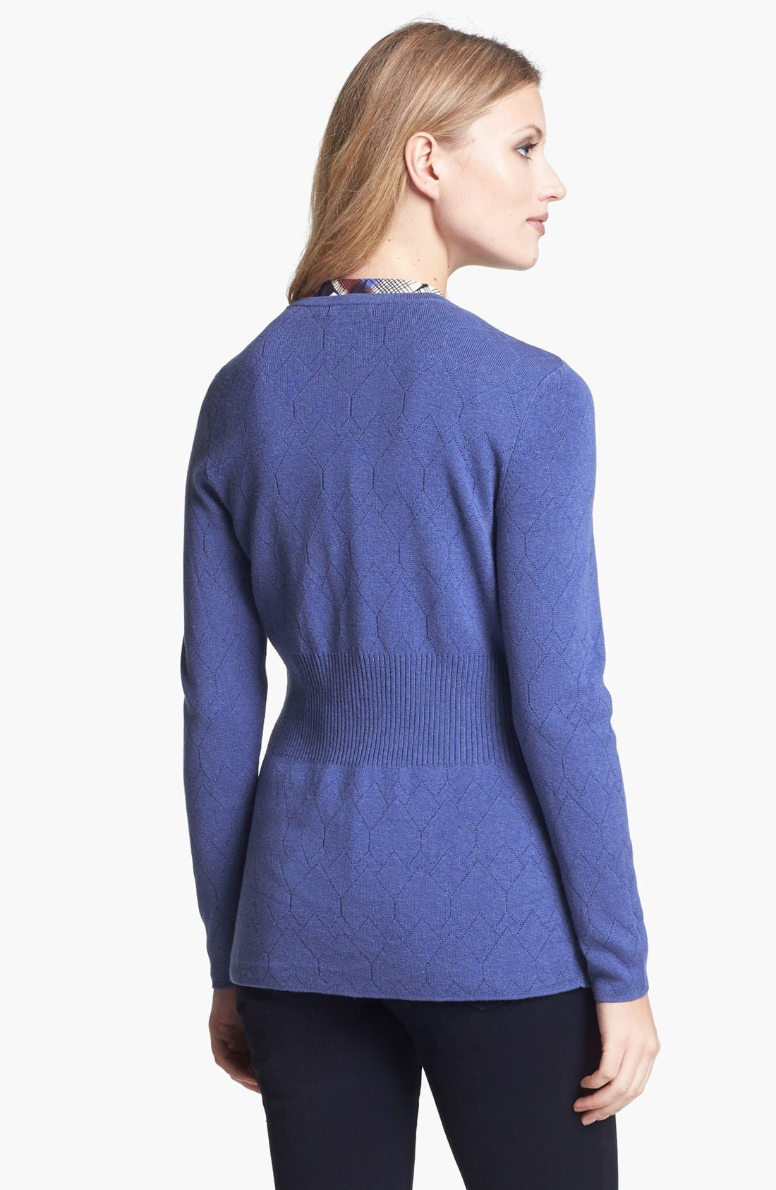 Alternate Image 3  - NIC+ZOE 'Back of Chair' V-Neck Pointelle Cardigan