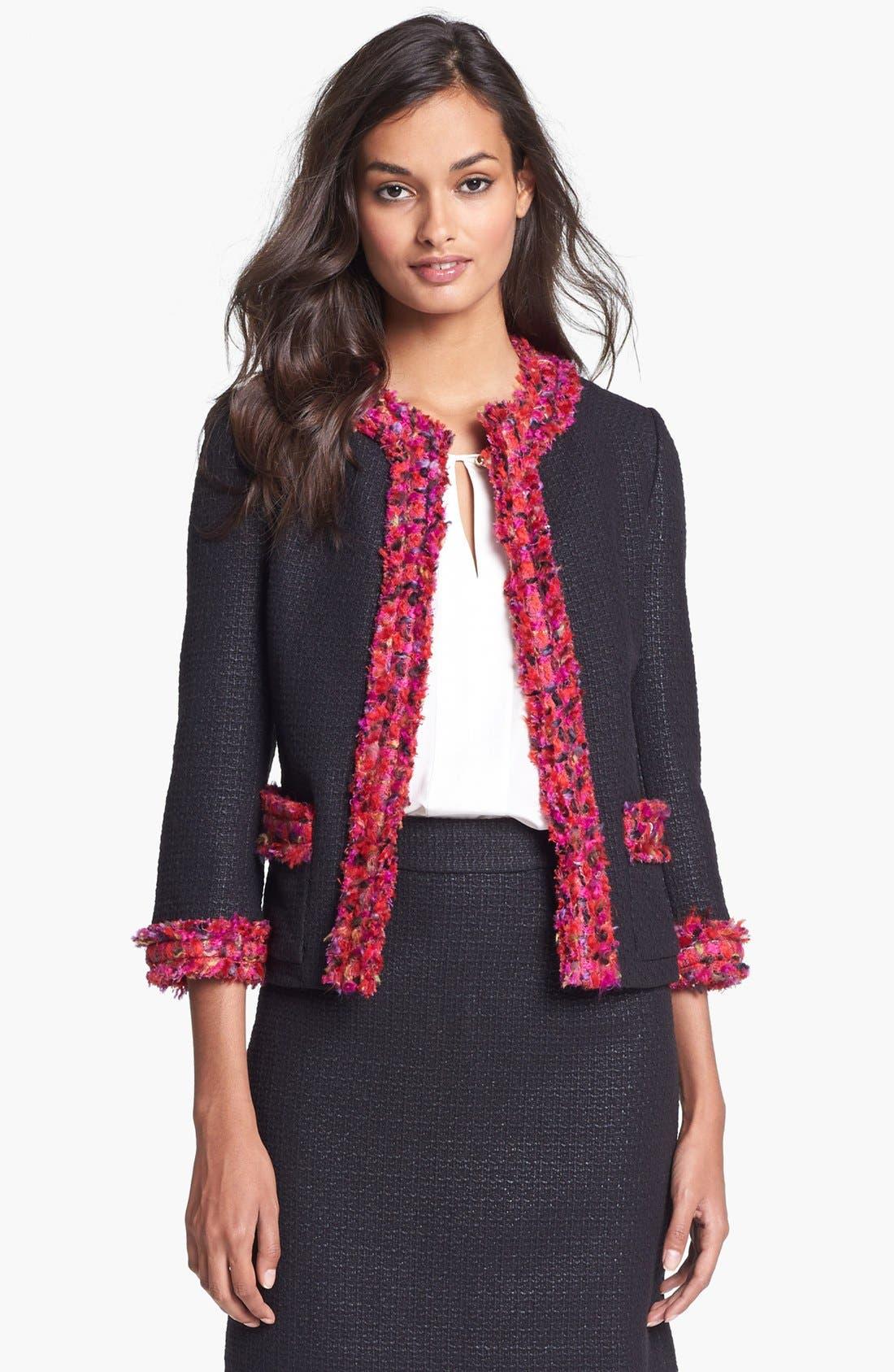 Alternate Image 1 Selected - kate spade new york 'ginnifer' woven jacket