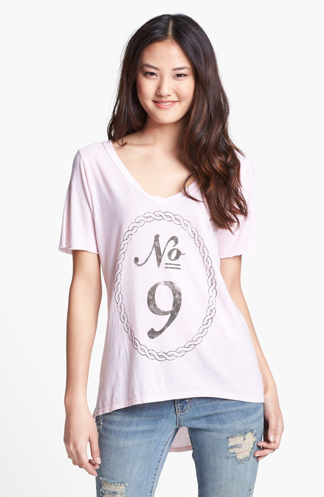 Main Image - Signorelli 'No. 9' V-Neck Tee (Petite)