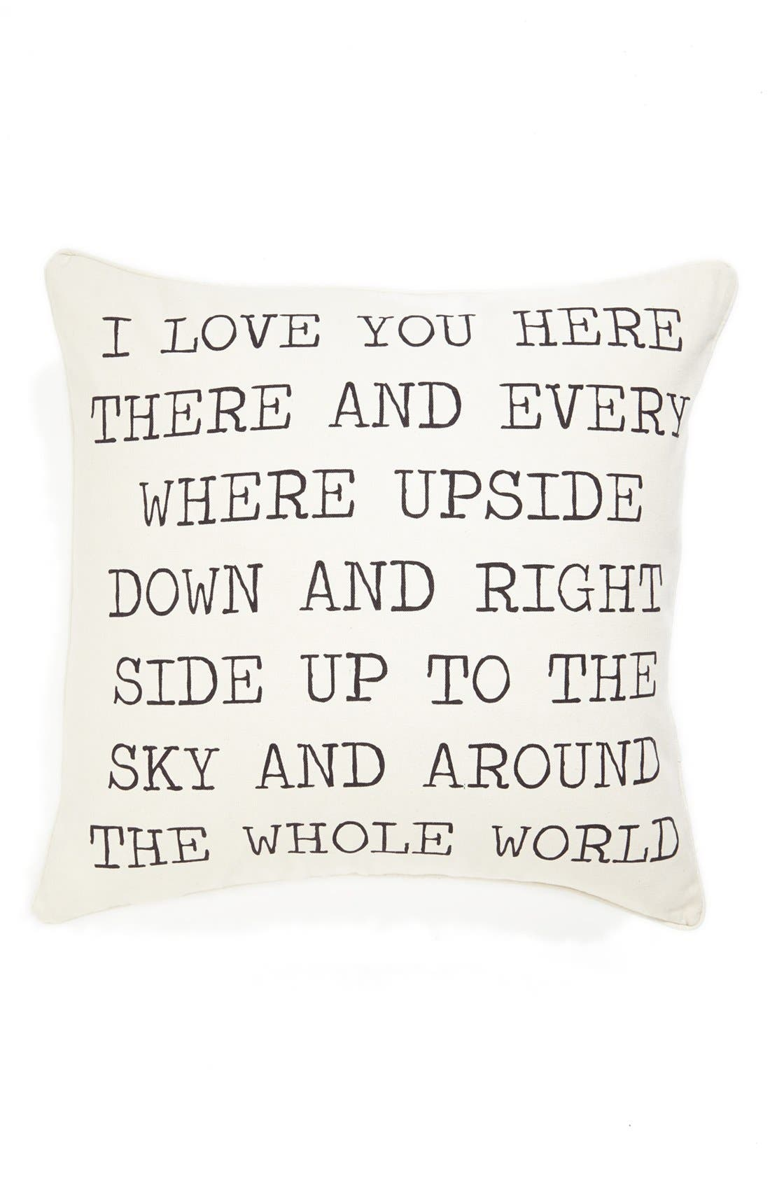 Alternate Image 1 Selected - Levtex 'I Love You' Pillow