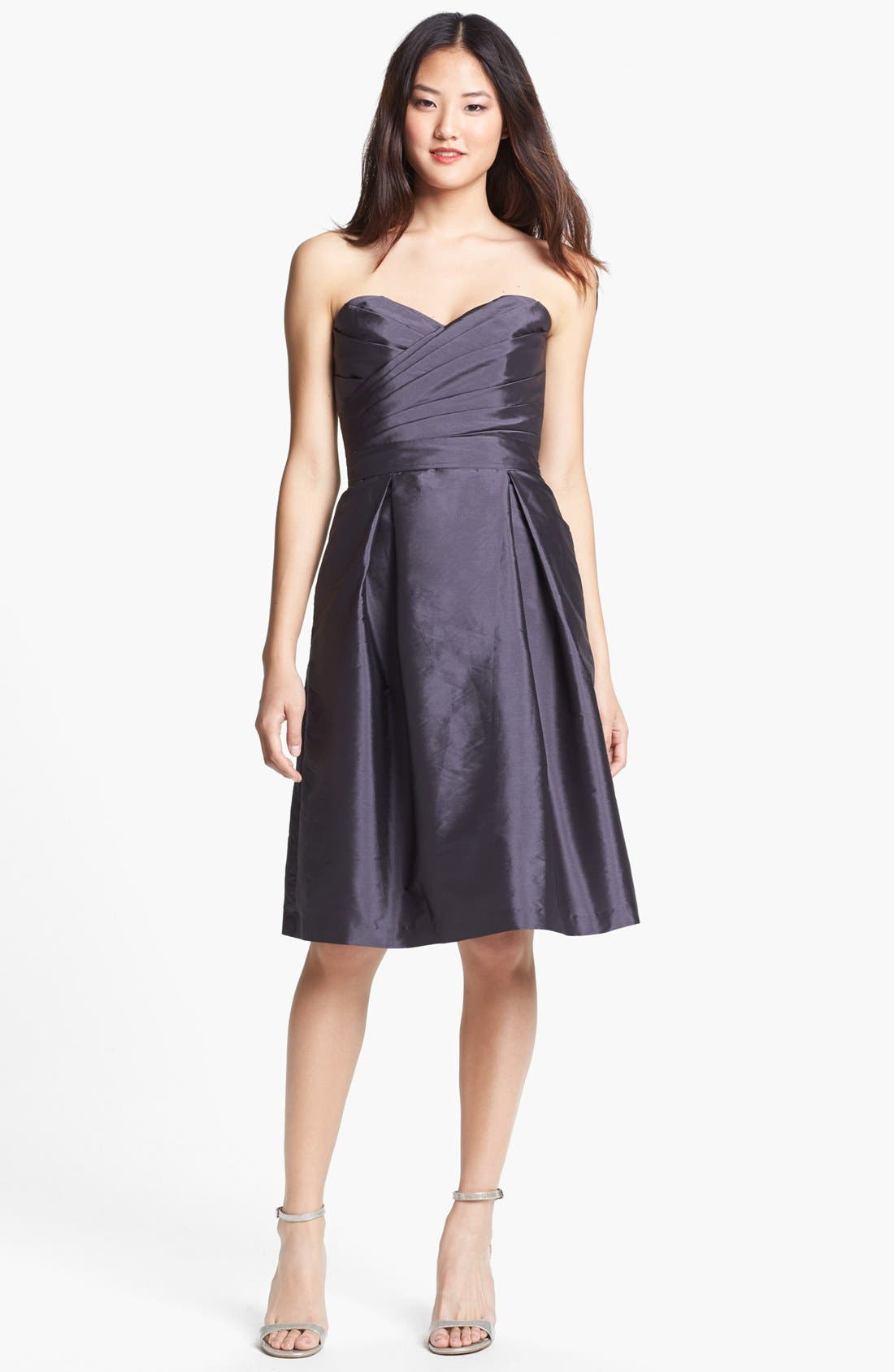 Alternate Image 3  - Alfred Sung Satin Fit & Flare Dress