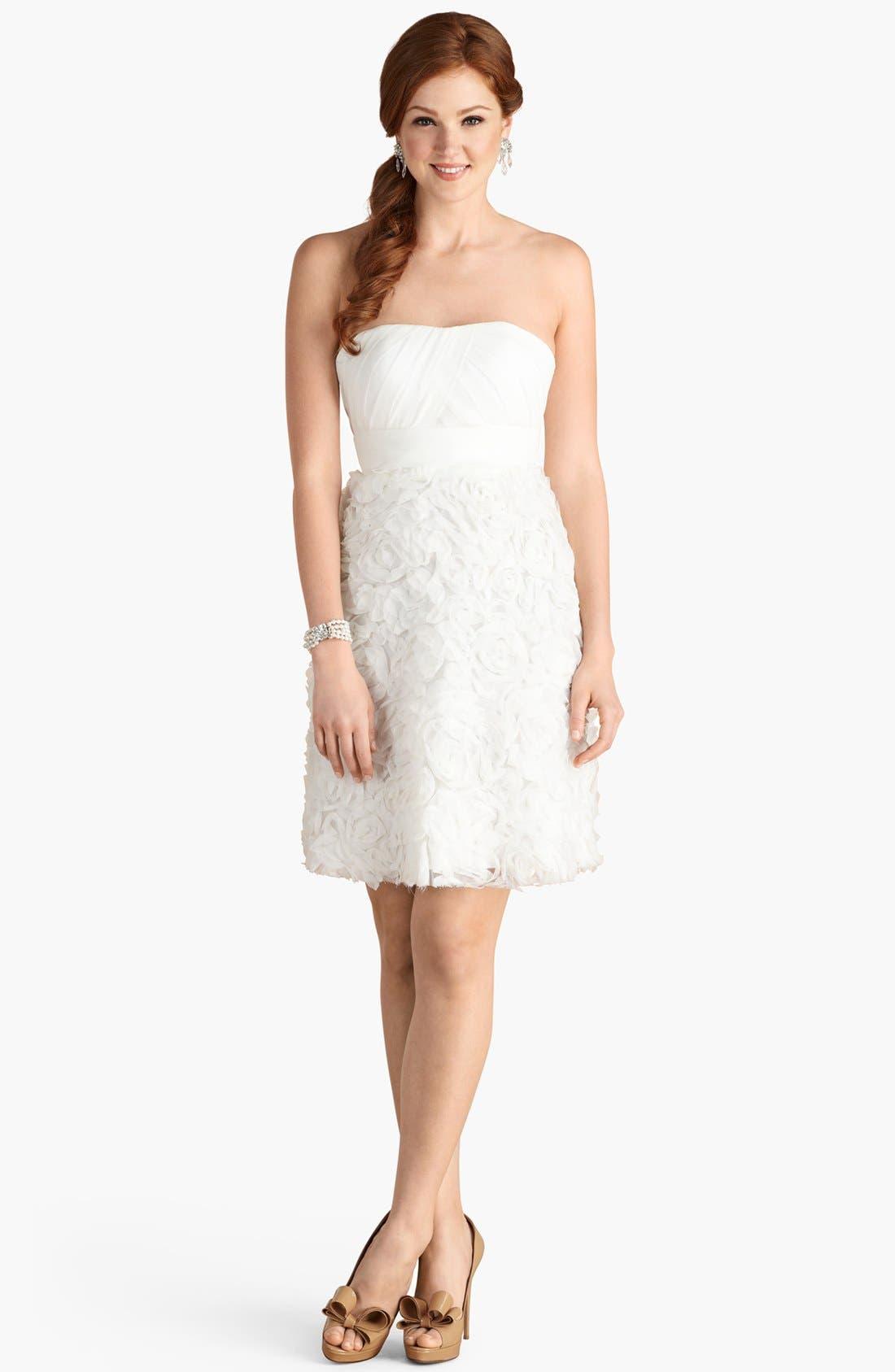Alternate Image 2  - Donna Morgan 'Giuliana' Rosette Detail Strapless Chiffon Dress (Online Only)