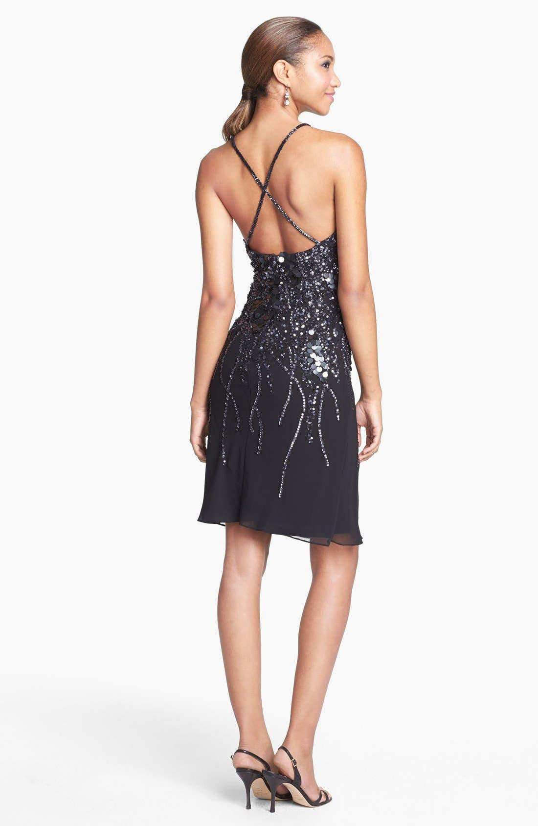 Alternate Image 2  - Faviana Embellished Chiffon Dress