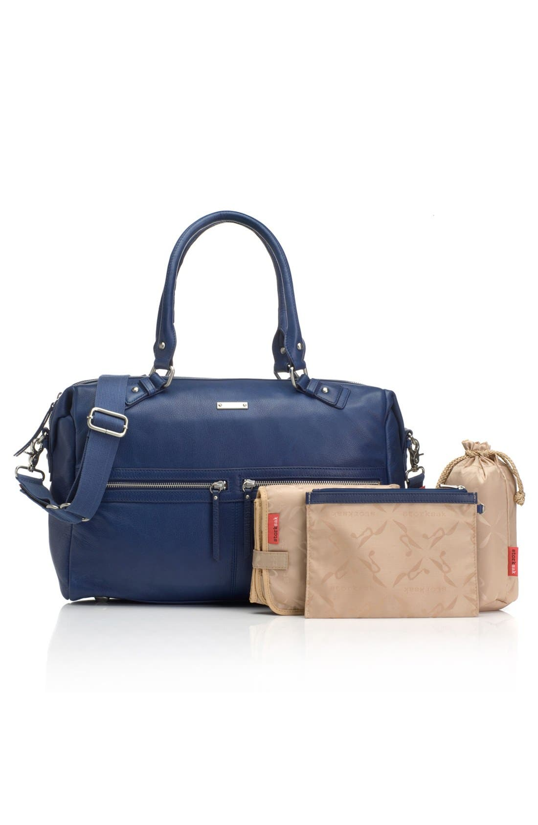 Alternate Image 3  - Storksak 'Caroline' Leather Diaper Bag