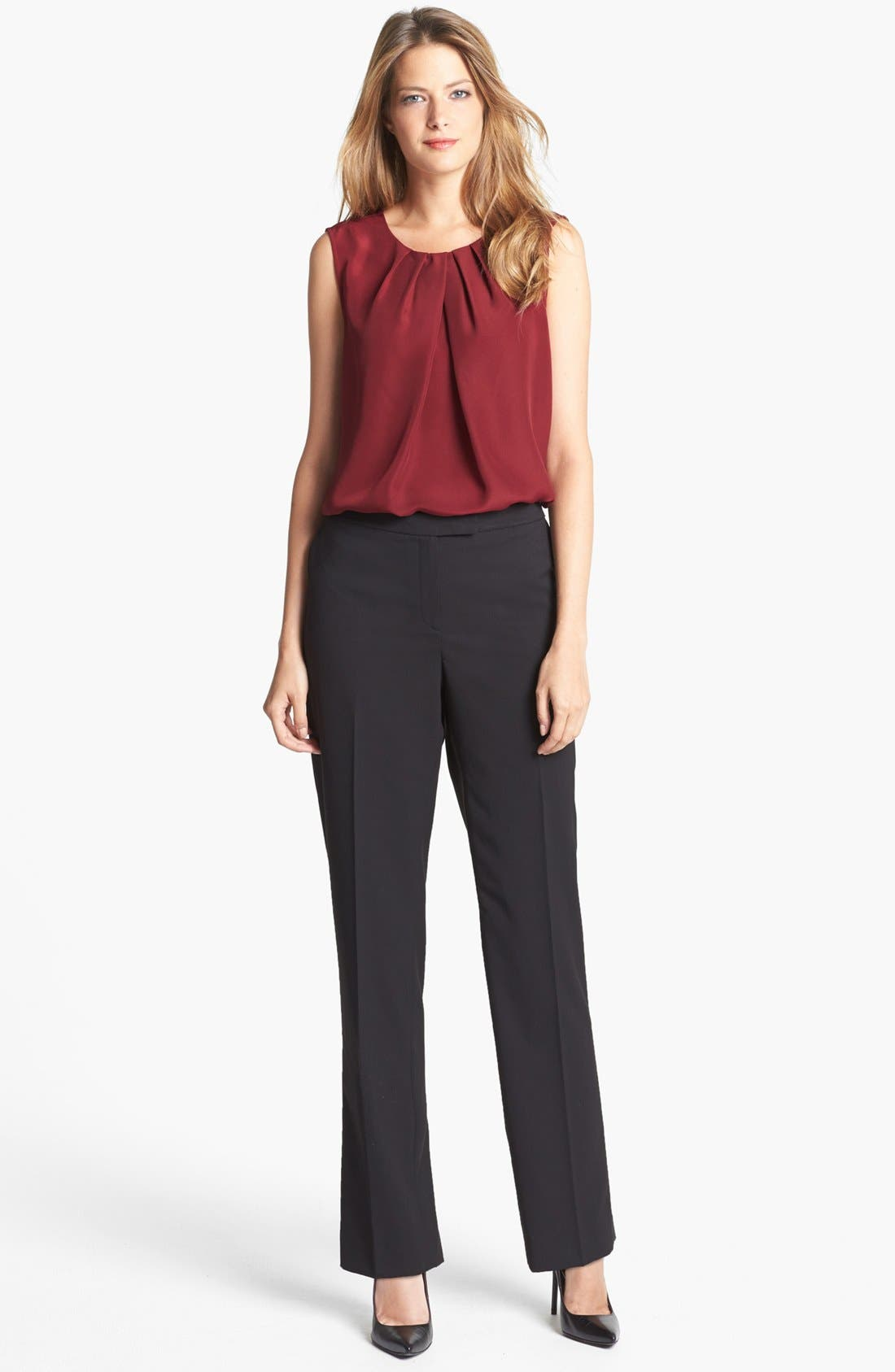Alternate Image 4  - Jones New York Collection 'Abby' Pleat Neck Blouse