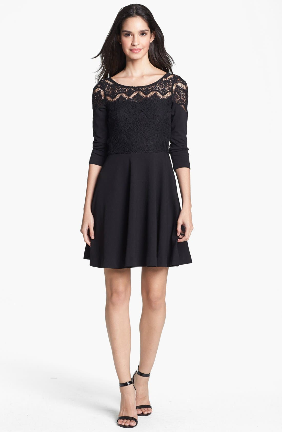 Alternate Image 1 Selected - Lilly Pulitzer® 'Remmy' Lace Bodice Ponte Knit Fit & Flare Dress