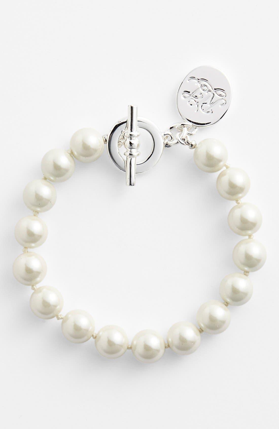 Alternate Image 1 Selected - Lauren Ralph Lauren 10mm Glass Pearl Toggle Bracelet