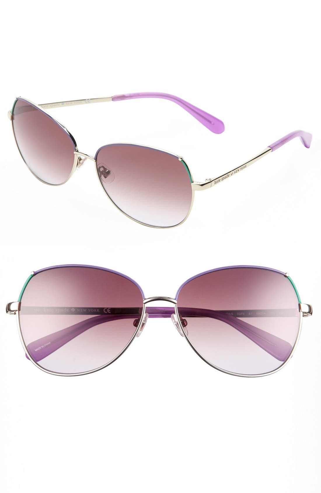 Main Image - kate spade new york 'candis' 58mm sunglasses