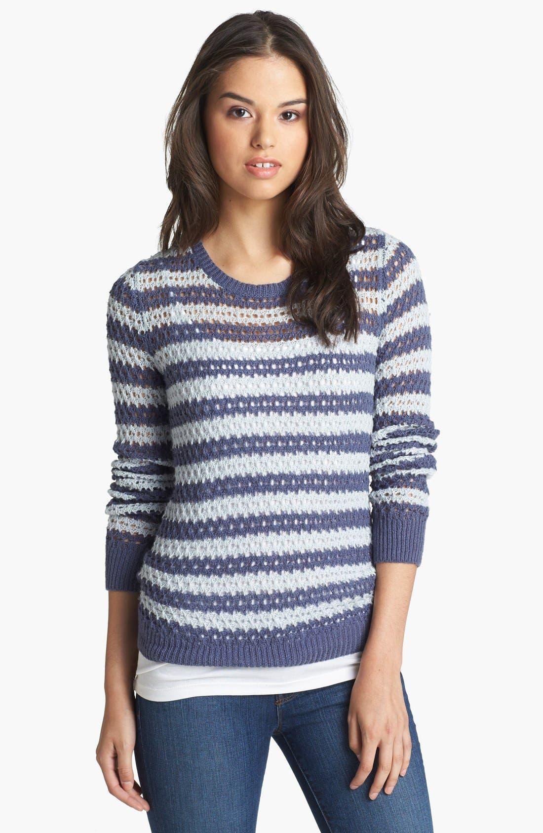 Alternate Image 1 Selected - Caslon® Open Knit Stripe Sweater