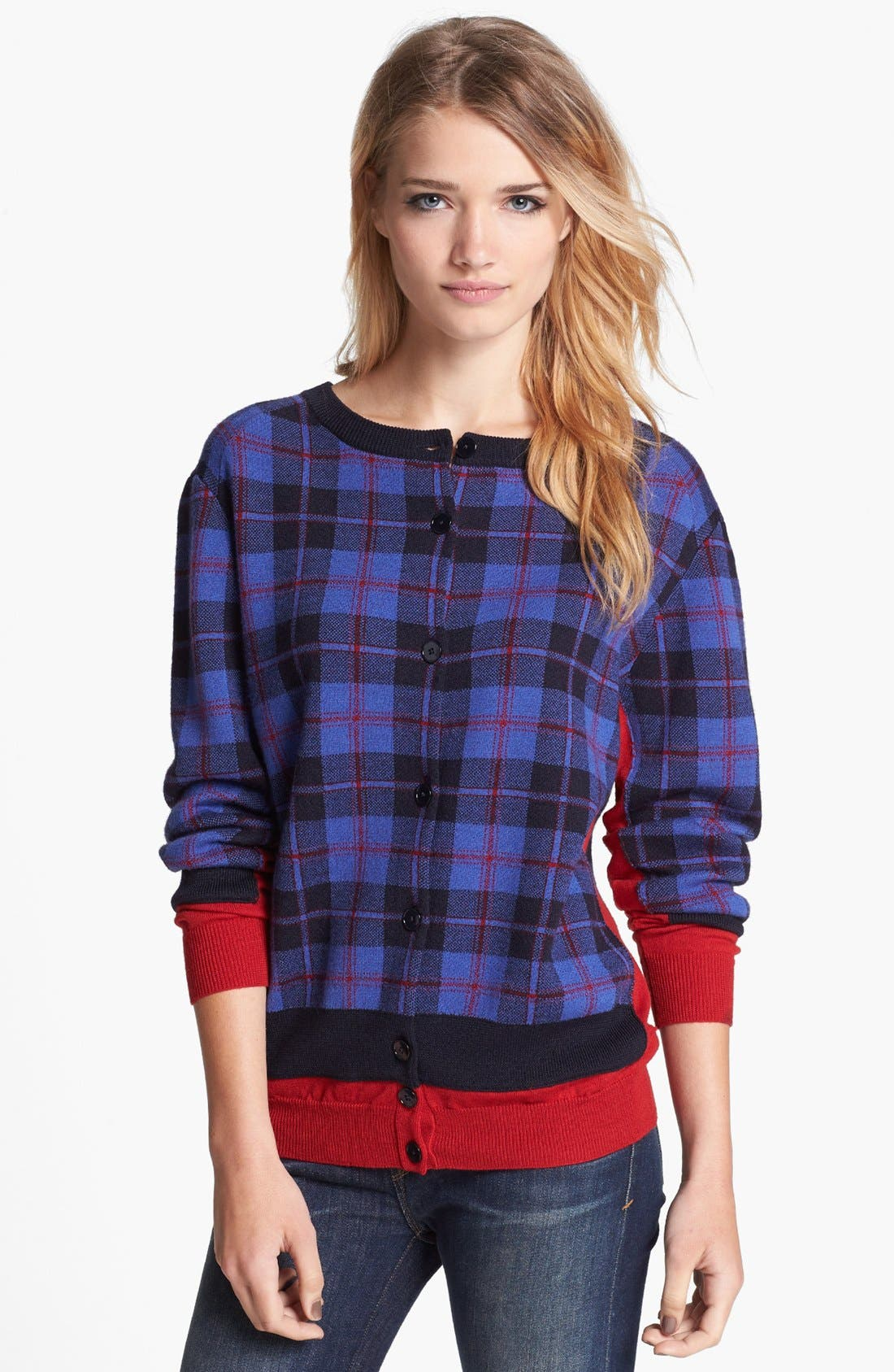 Alternate Image 1 Selected - MARC BY MARC JACOBS 'Aimee' Plaid Sweater