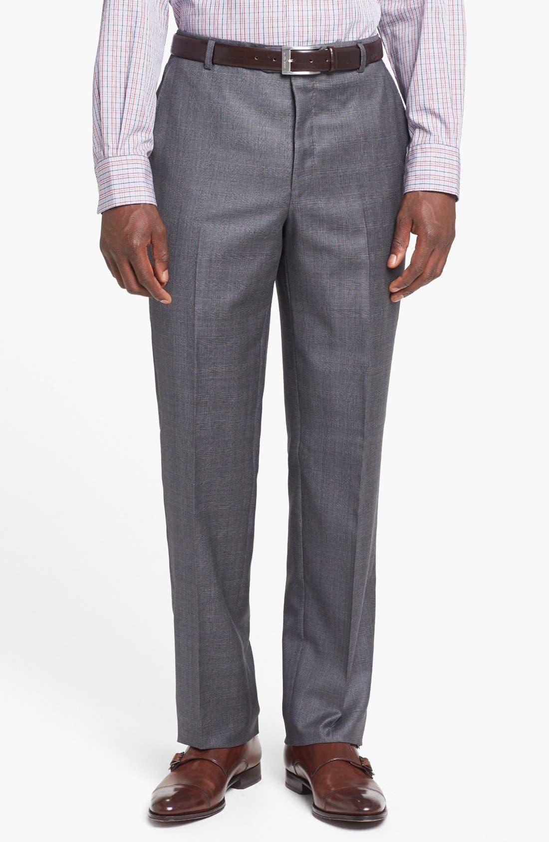 Alternate Image 5  - Hickey Freeman 'B Series' Classic Fit Plaid Suit