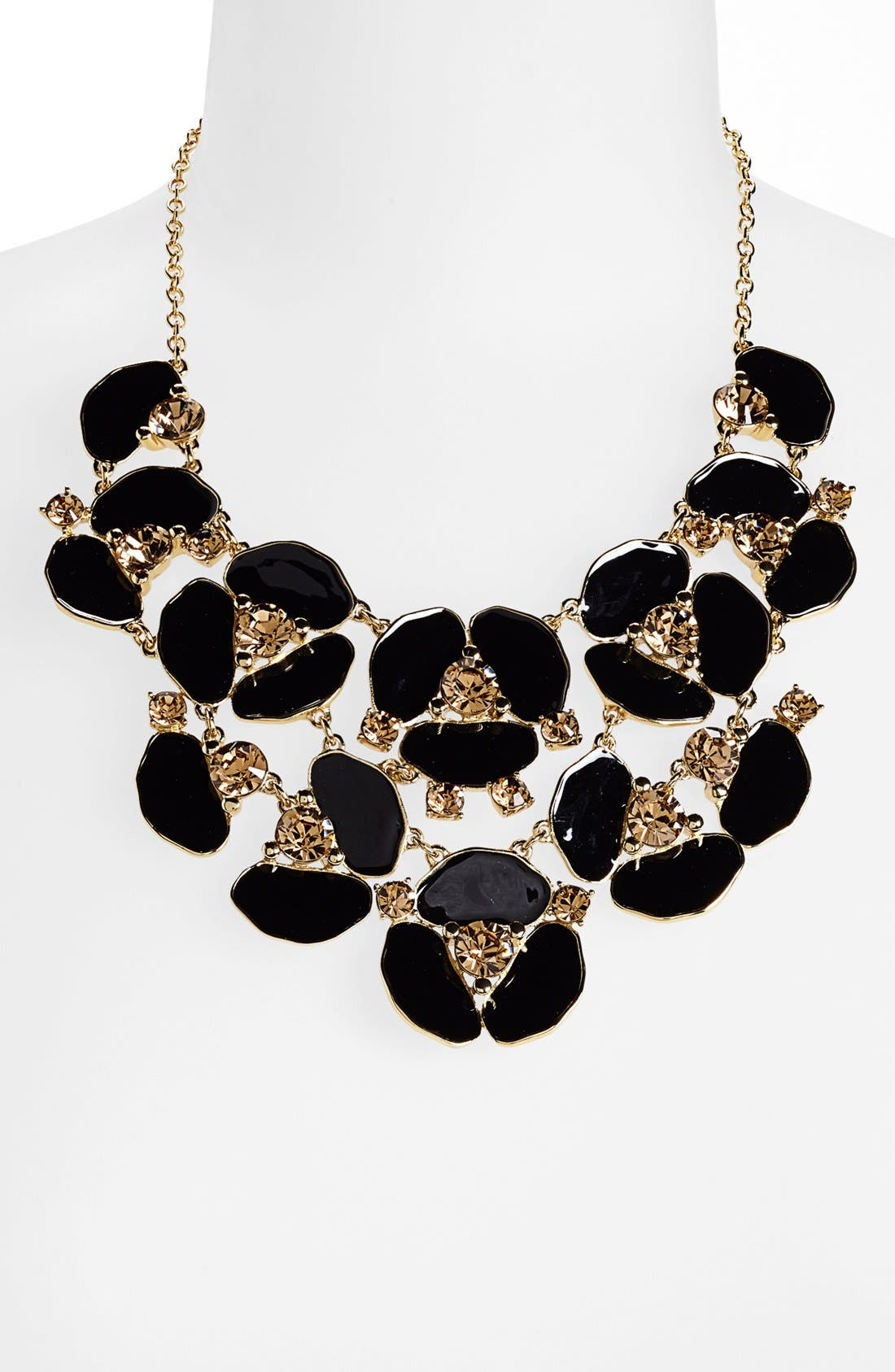 Alternate Image 1 Selected - kate spade new york 'disco pansy' bib necklace