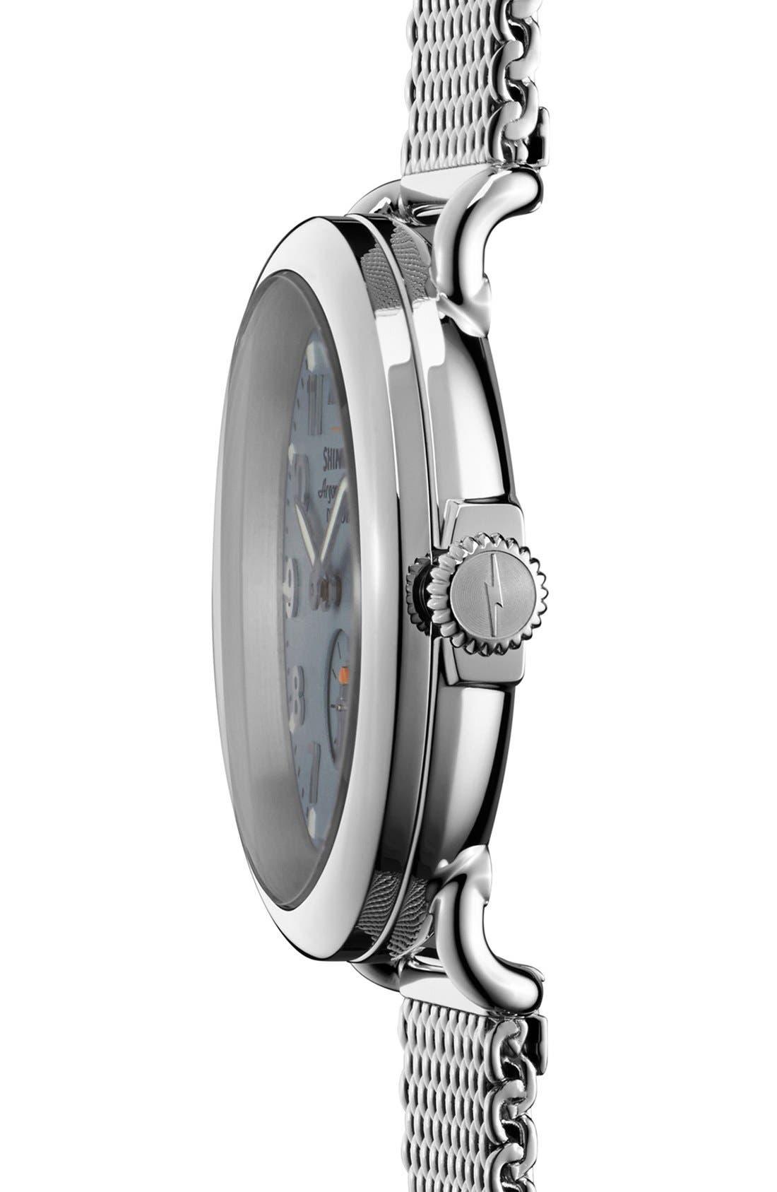 Alternate Image 3  - Shinola 'The Runwell' Mesh Band Watch, 41mm