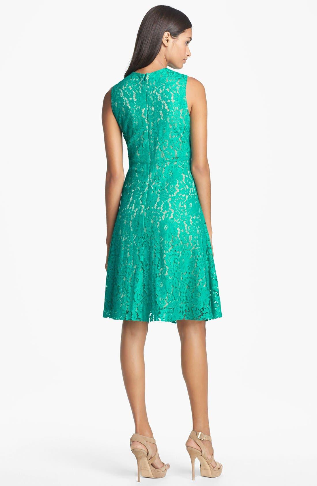 Alternate Image 2  - Eliza J Lace Fit & Flare Dress