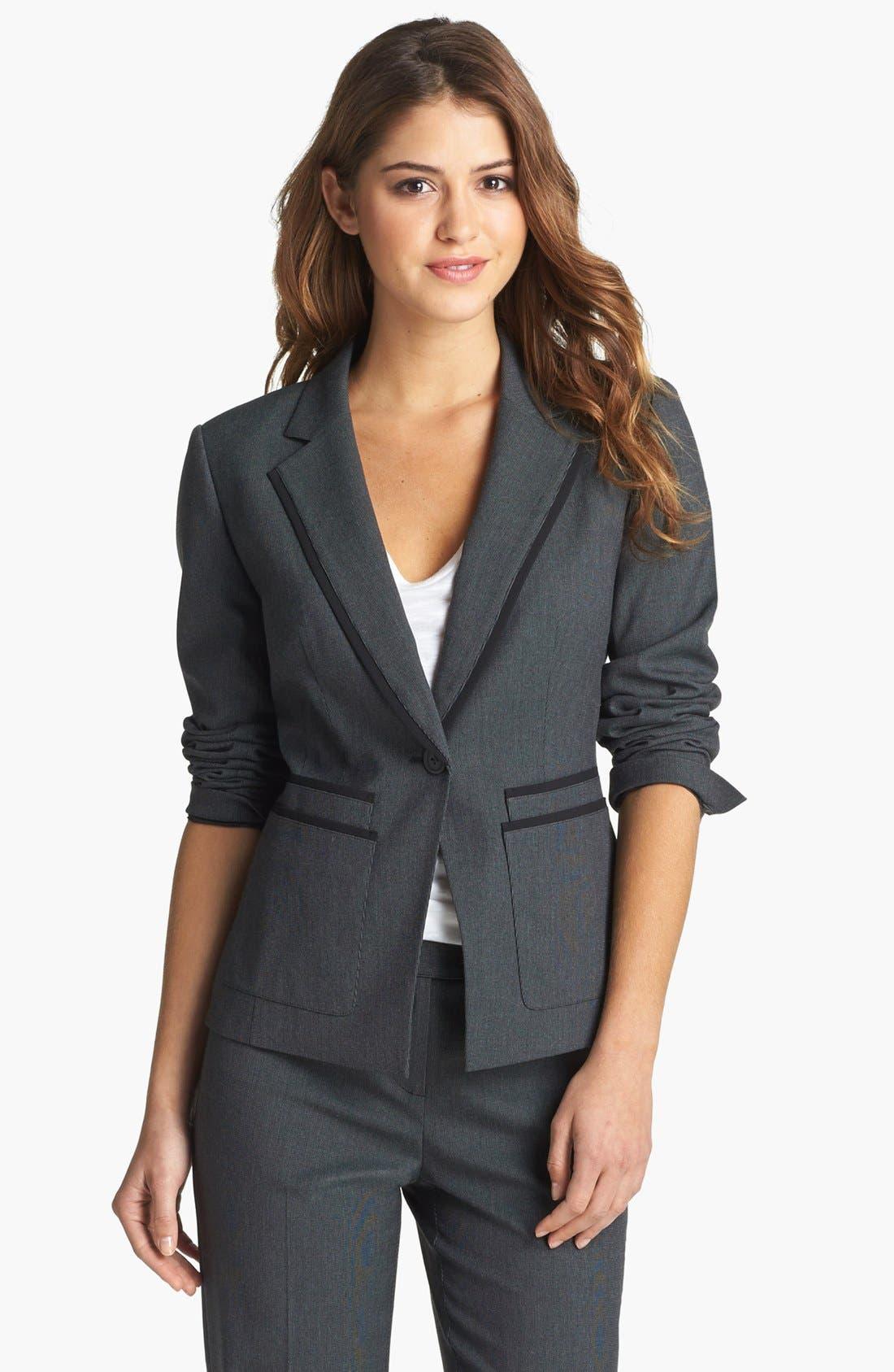 Alternate Image 1 Selected - Halogen® 'Fox Hunt' Suit Jacket (Regular & Petite)