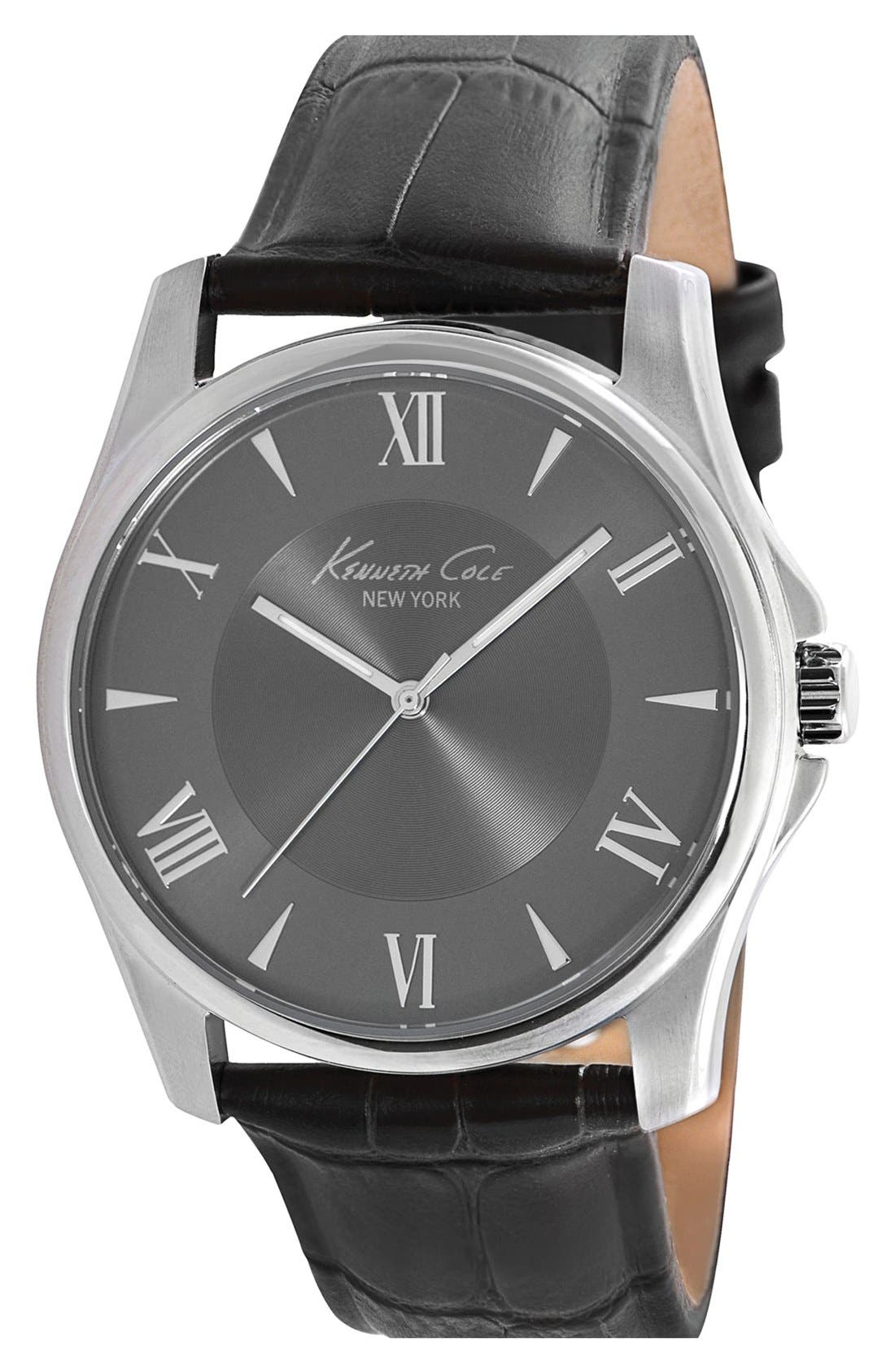 Main Image - Kenneth Cole New York Roman Numeral Watch, 44mm
