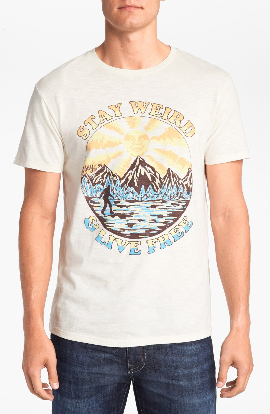 Alternate Image 1 Selected - Obey 'Stay Weird' T-Shirt