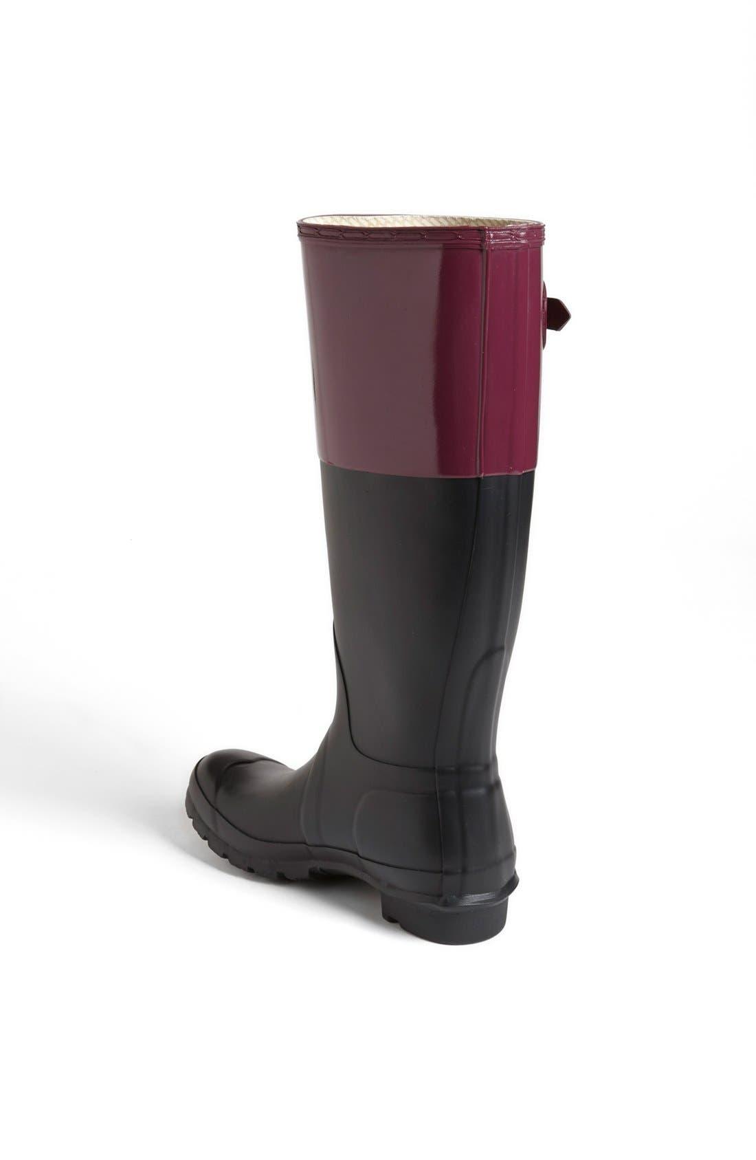 Alternate Image 2  - Hunter 'Original Colorblock' Rain Boot (Women)