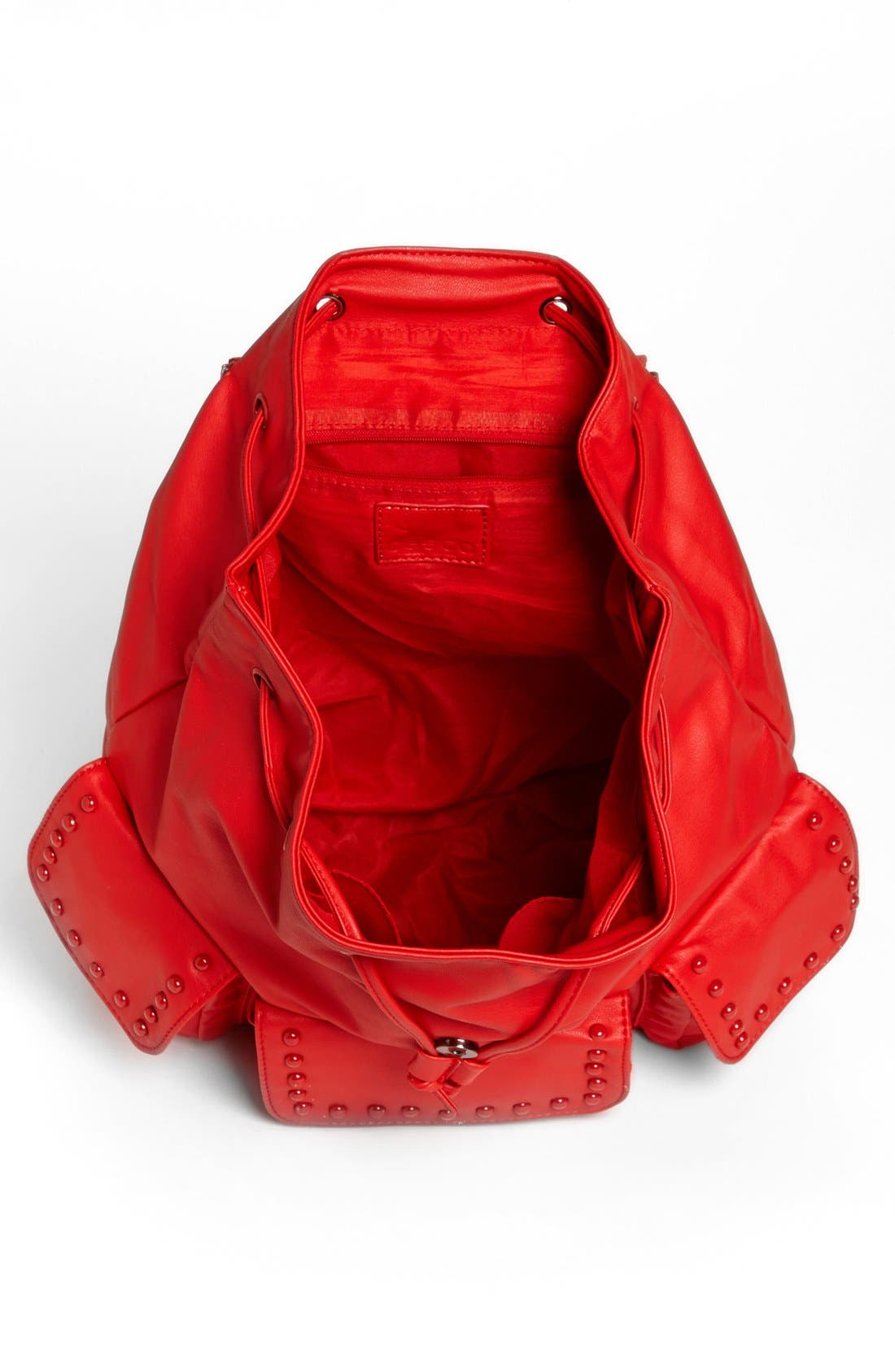 Alternate Image 3  - Cesca Enameled Studded Faux Leather Backpack (Juniors) (Online Only)