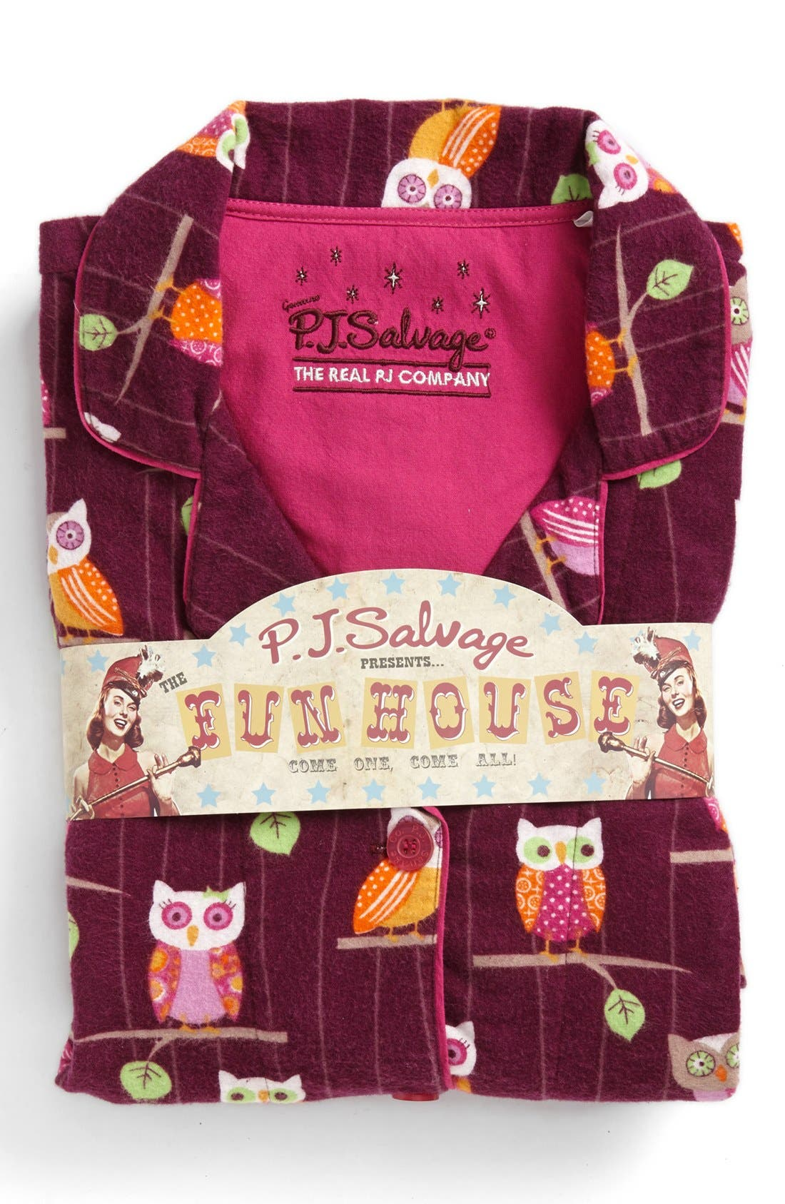 Alternate Image 4  - PJ Salvage Print Flannel Pajamas (Plus Size)