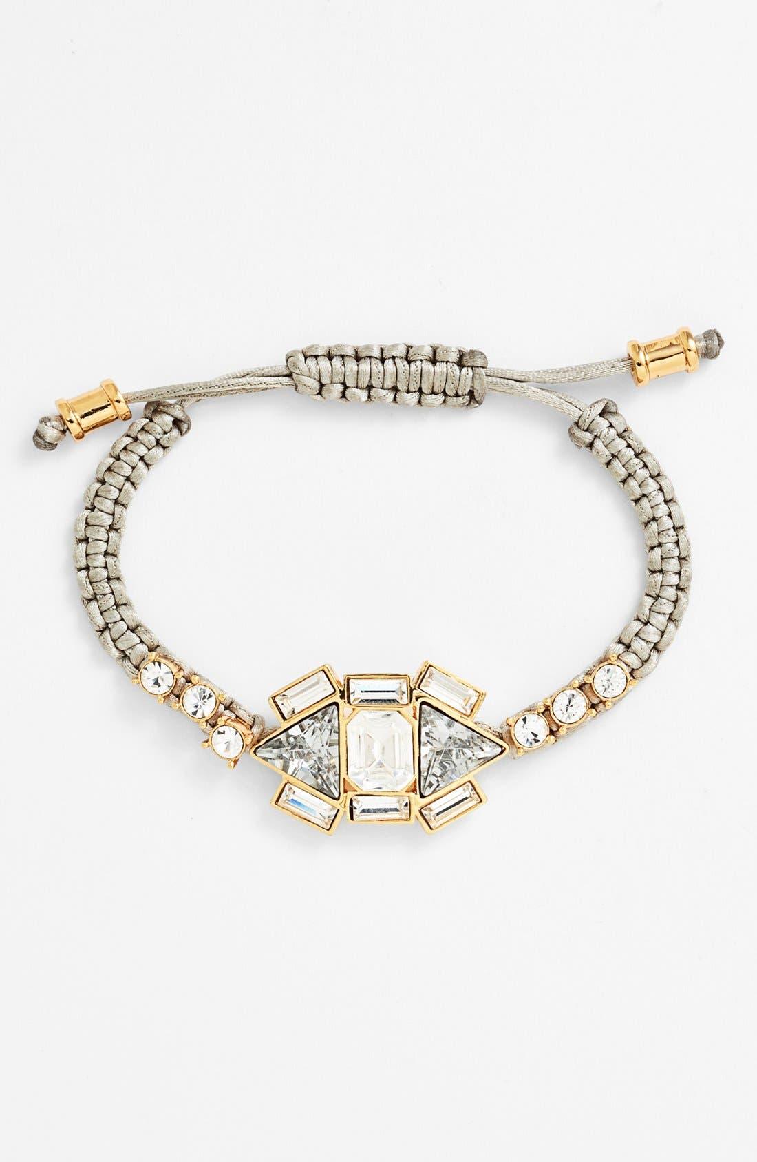 Main Image - Vince Camuto Crystal Cluster Macramé Bracelet