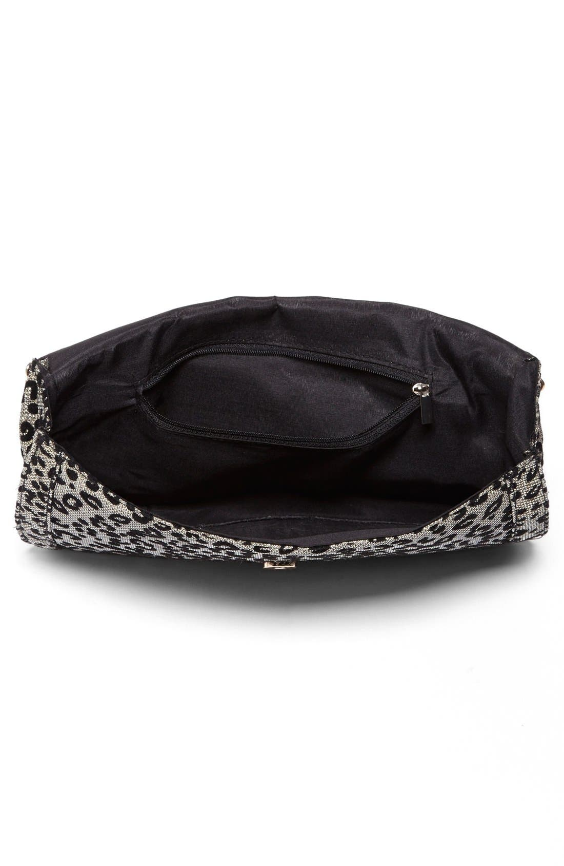Alternate Image 3  - Cesca Leopard Print Clutch (Juniors) (Online Only)